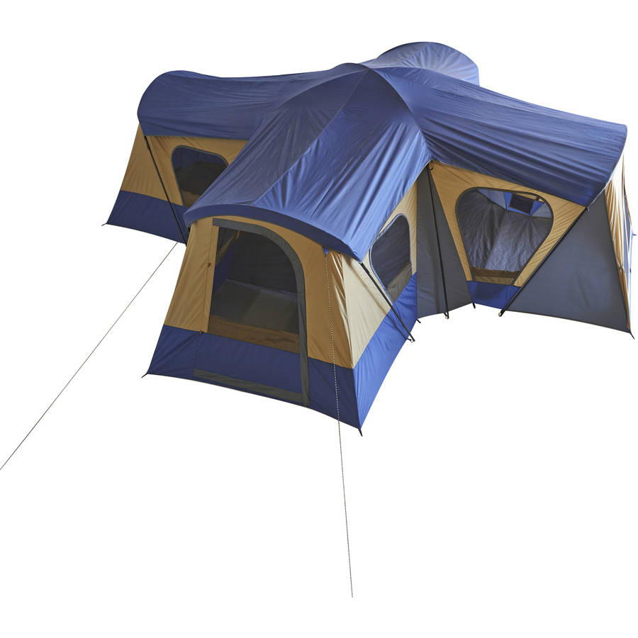 New Ozark Trail Base Camp 14-Person Cabin Tent 4 rooms 20 ...
