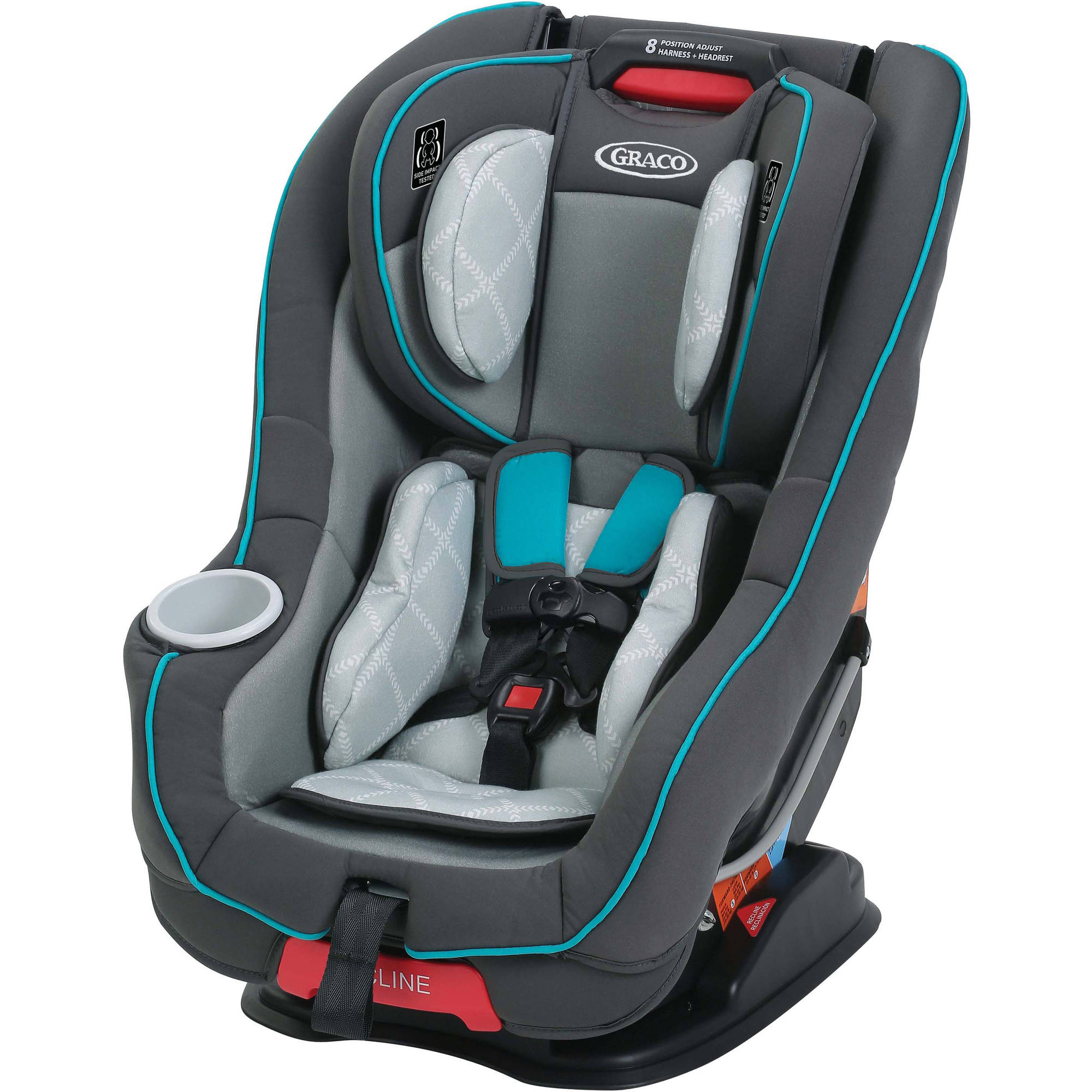 Graco Size4Me 65 Convertible Car Seat with RapidRemove Cover, Finch ...