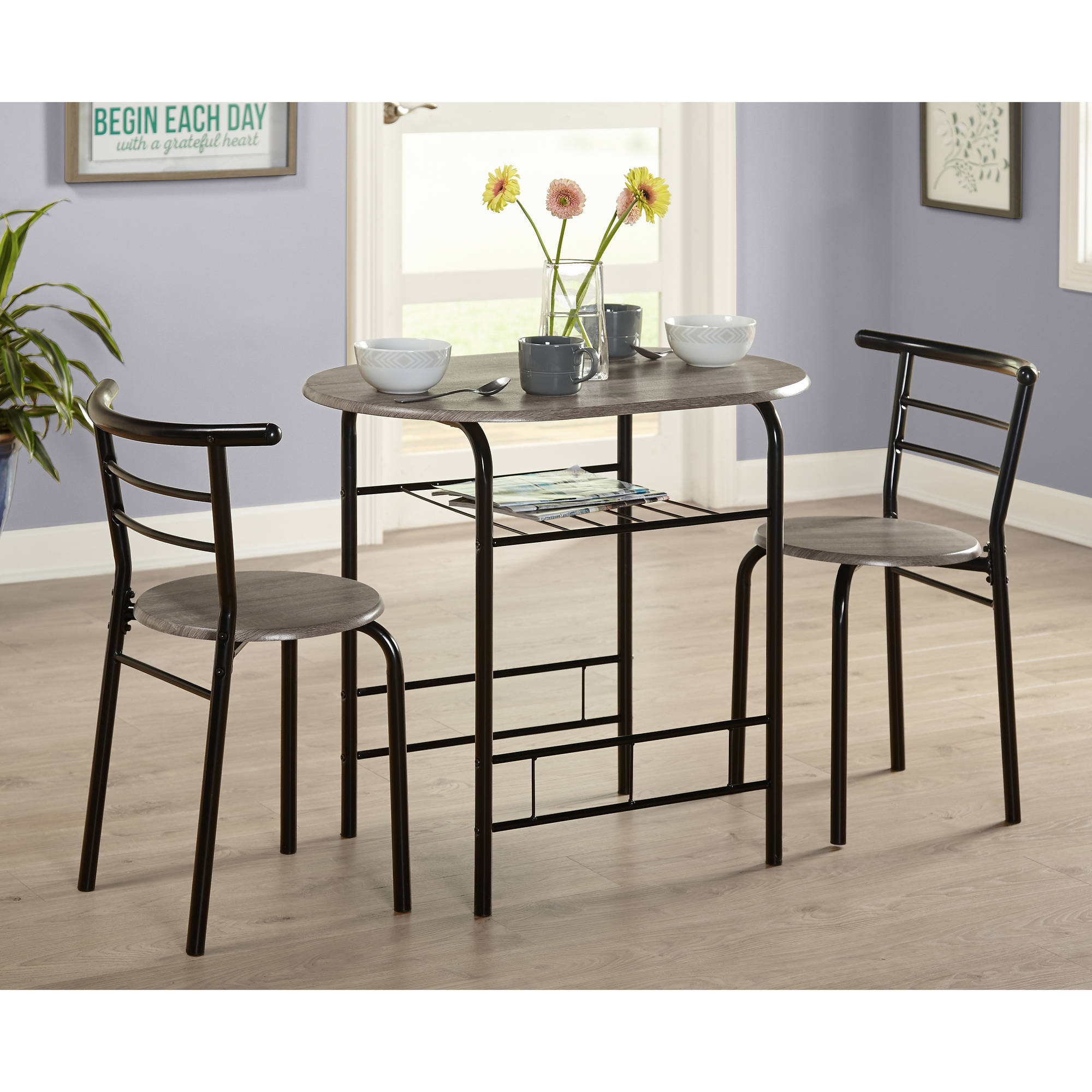 Picture 1 of 3 ...  sc 1 st  eBay & Bistro Table Set 3 Piece Dining for 2 Furniture Chair Kitchen Coffee ...