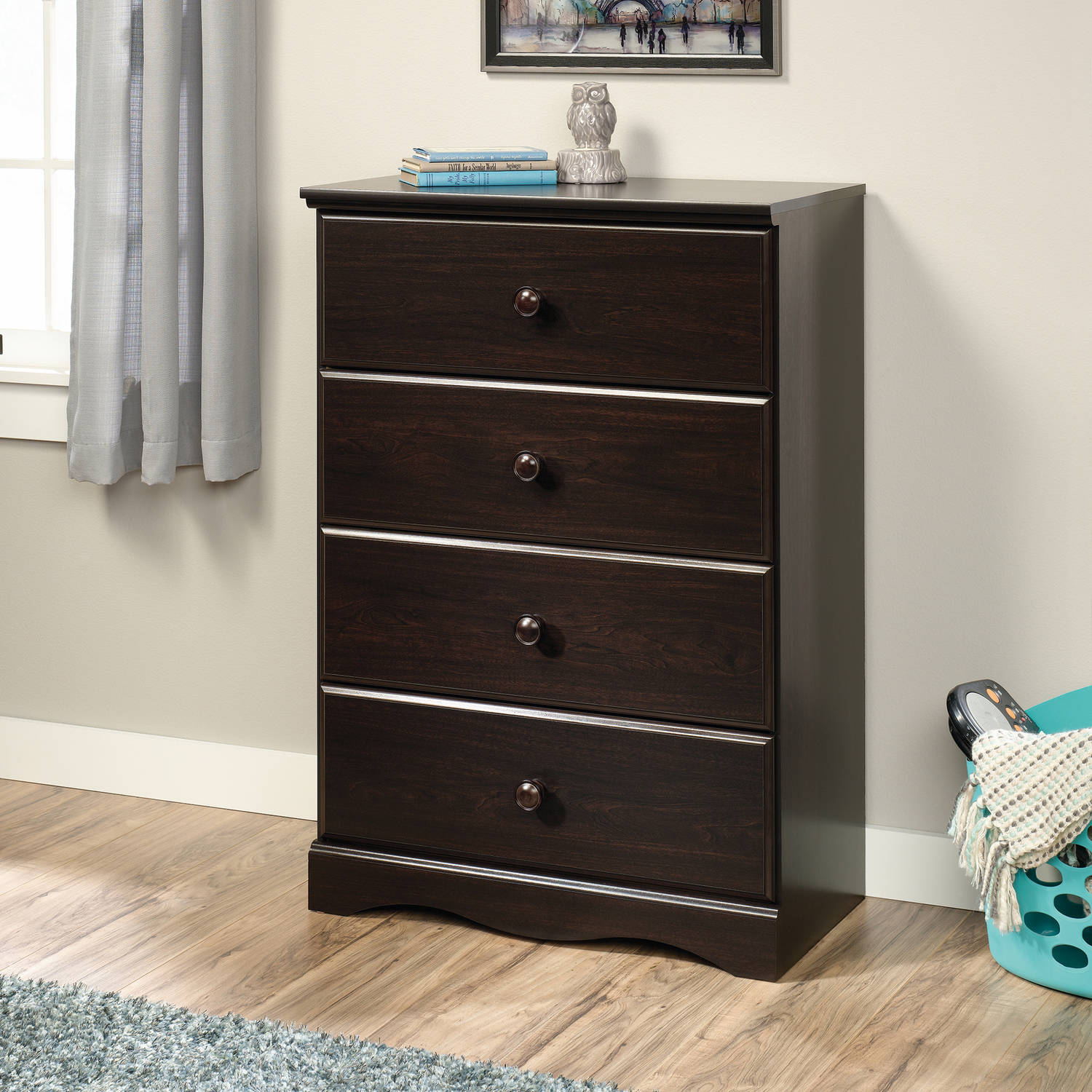 Details About Sauder Storybook 4 Drawer Chest Soft White Finish