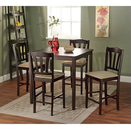 Delicieux Metropolitan Counter Height 5 Piece Dining Set, Espresso