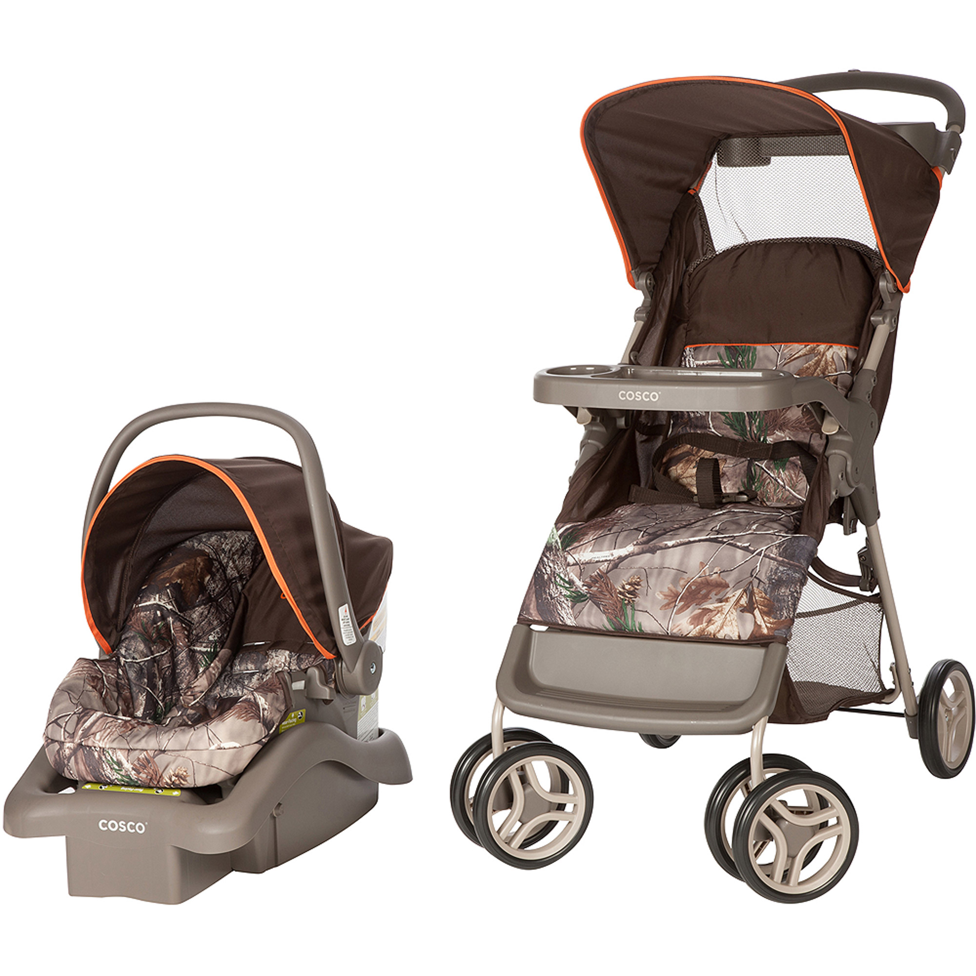 Cosco Lift And Stroll Travel System Realtree Orange 725880310567
