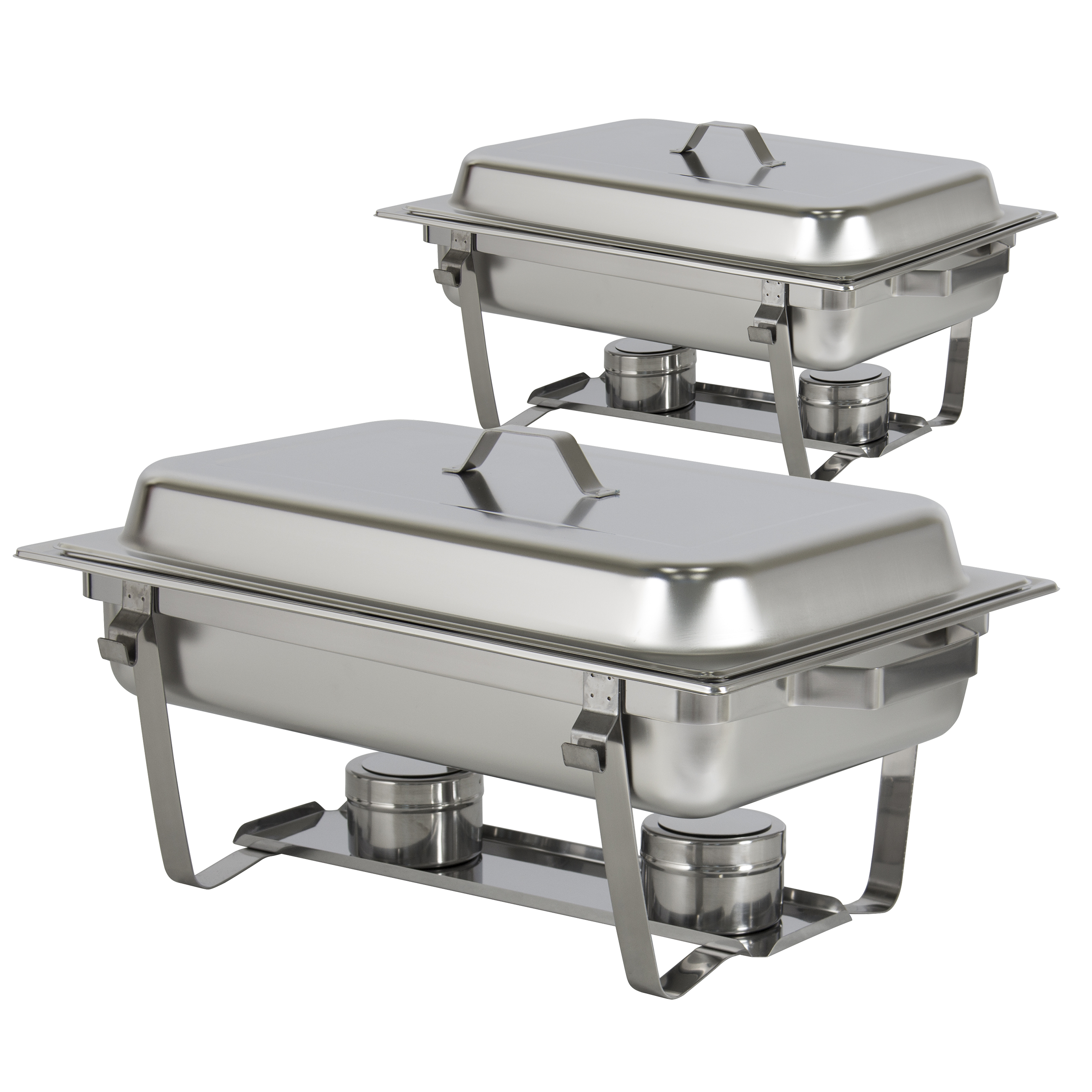 chafing dish set of 2 8 quart stainless steel full size tray rh ebay com disposable buffet chafing dish set costco chafing dish buffet set target
