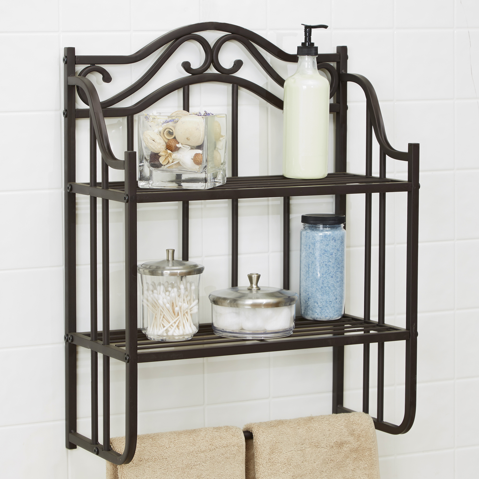 Chapter Bathroom Storage Wall Shelf Oil Rubbed Bronze Organizer ...