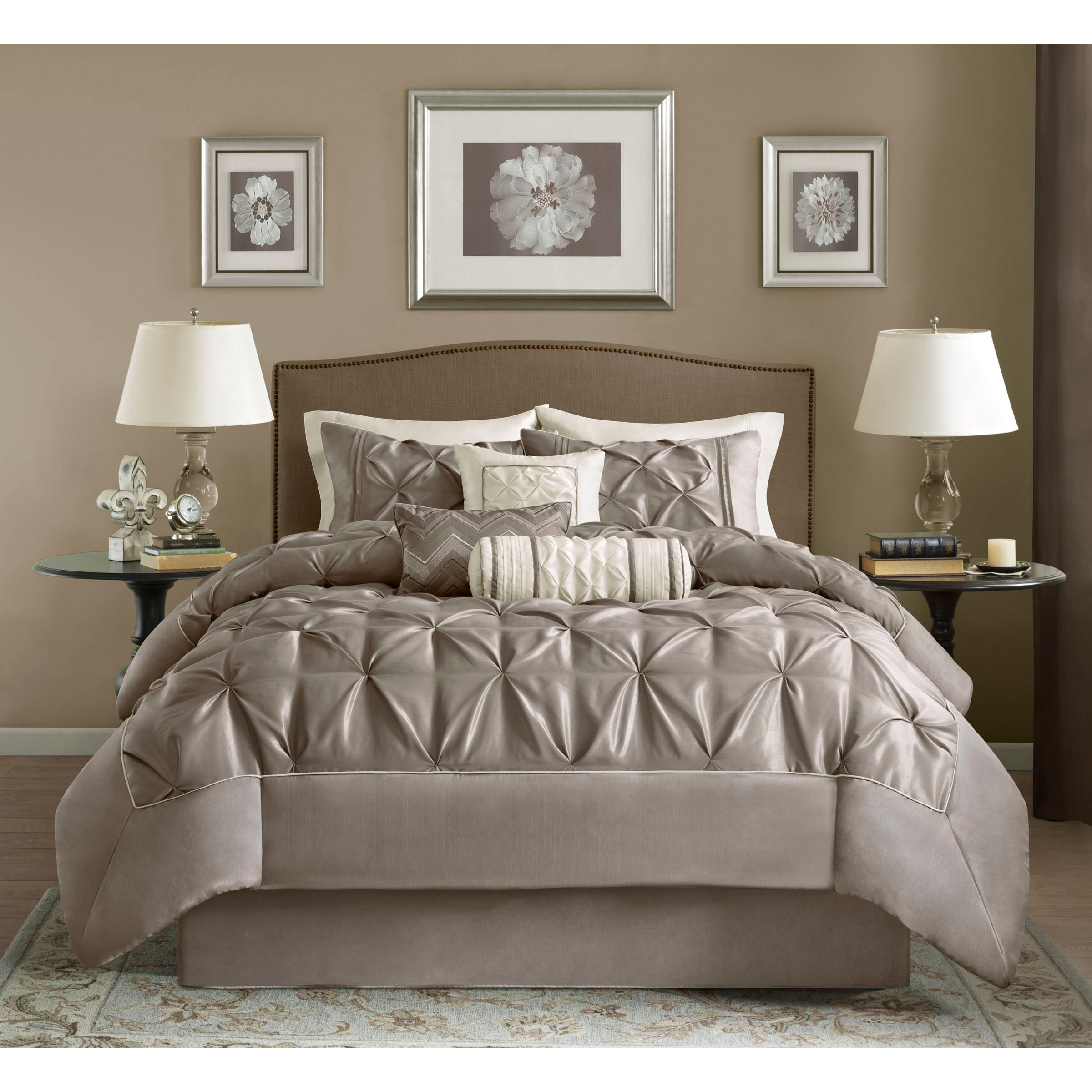taupe colored color queen coral sets comforter craftsmanbb design bedding