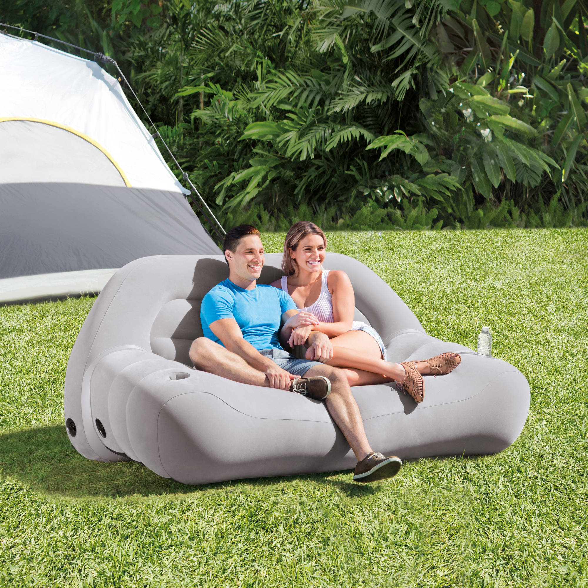 Intex Inflatable Camping Sofa 75 X 37 X 34 78257321278 Ebay