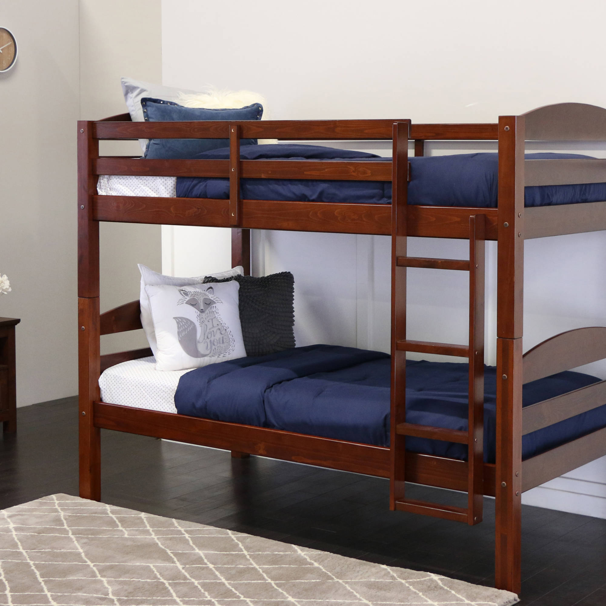 Walker Edison Solid Wood Twin Bunk Bed Espresso 2day Ship Ebay