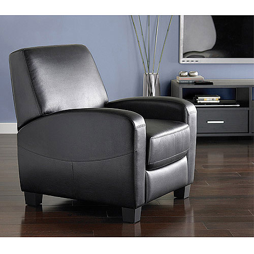 Details About Home Theater Recliner Black Faux Leather Club Chair Lounge  Movie Theatre Seats