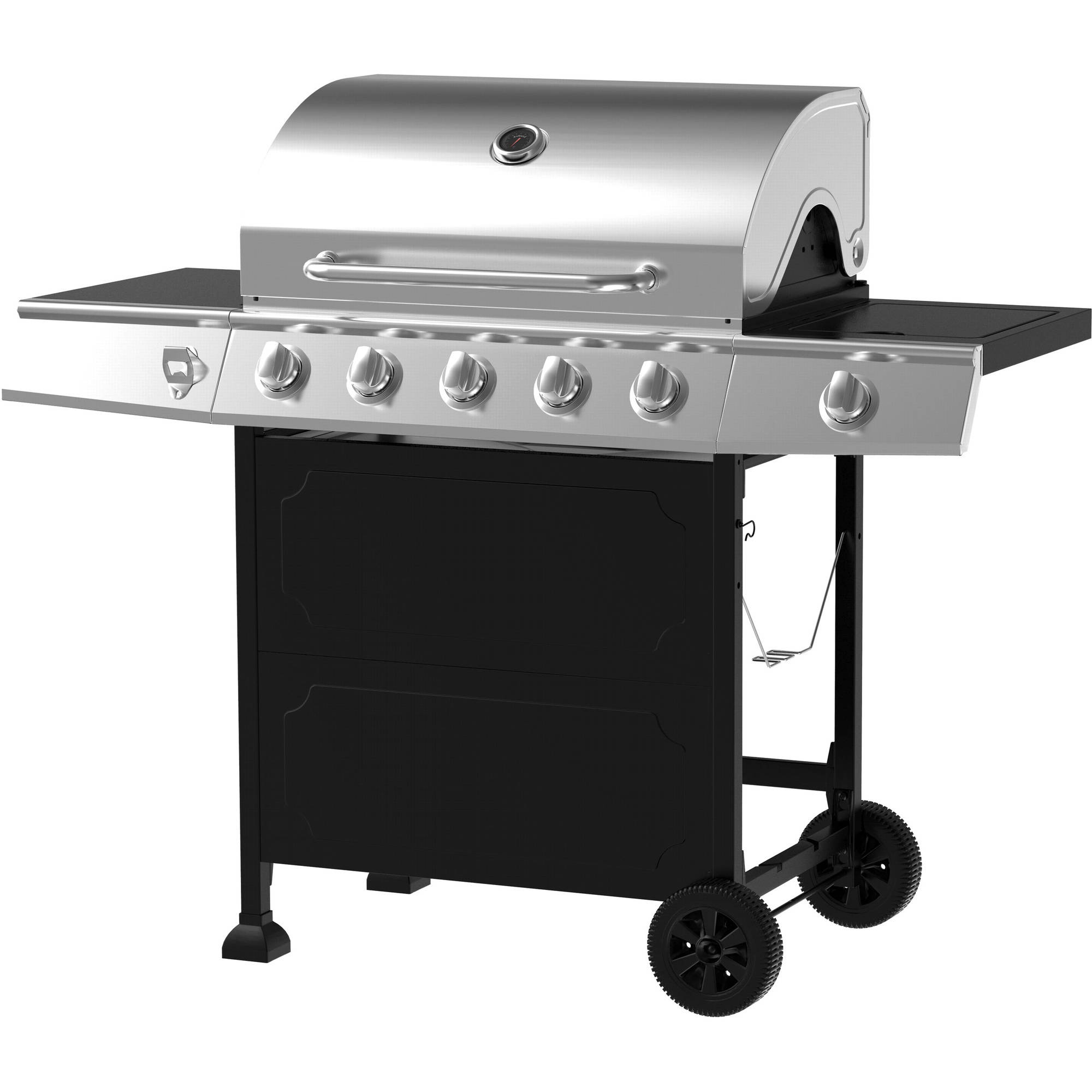 gas grill stainless steel 5 burner outdoor cooking patio garden