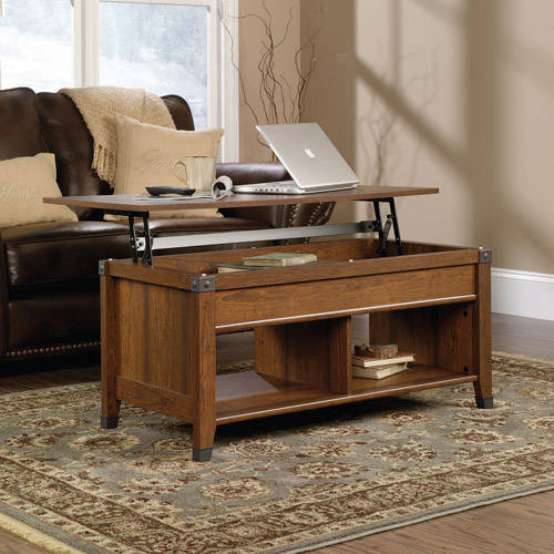 Details About Lift Top Convertible Coffee Table Ottoman Milled Cherry Wood Desk End Storage