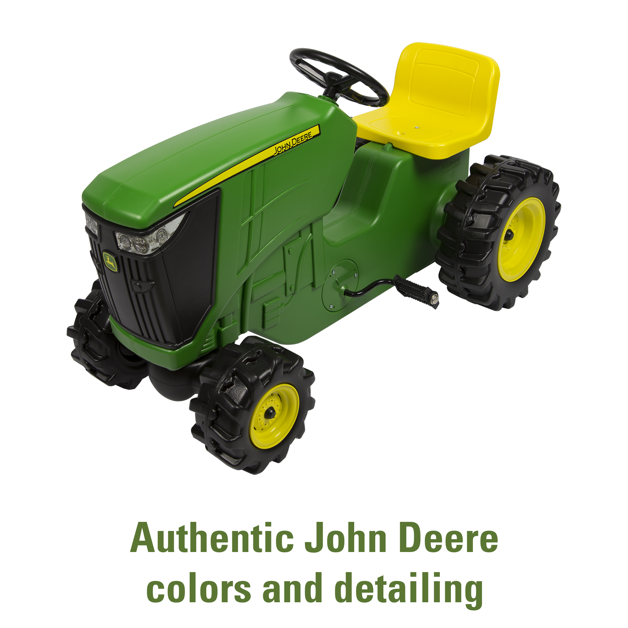 John Deere Pedal Powered Tractor Kids Ride On Toy Tractor Green