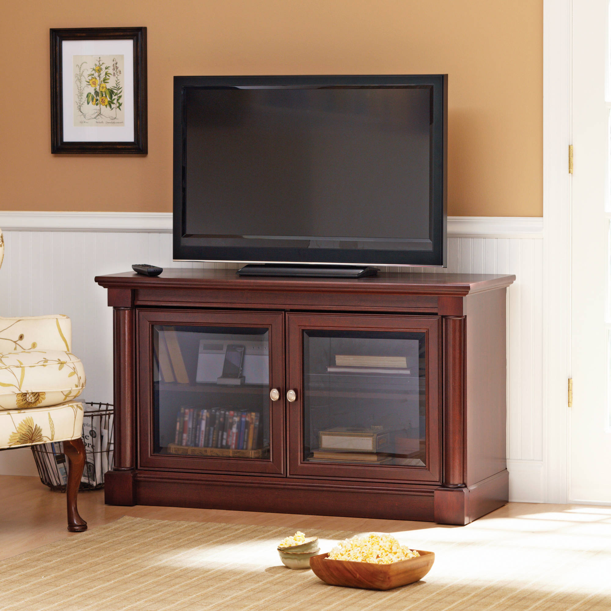 Better Homes And Gardens Ashwood Road Cherry Tv Stand For Tvs Up To