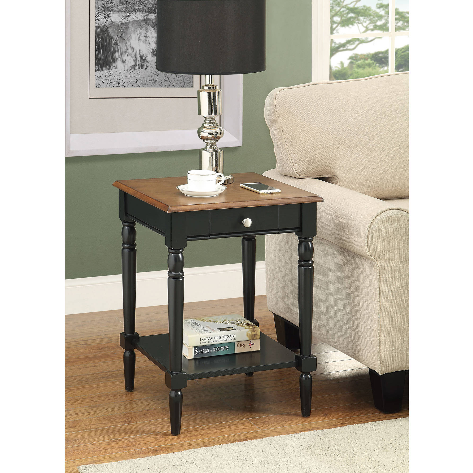 Convenience Concepts French Country End Table Multiple Finishes Dark - Convenience concepts french country coffee table