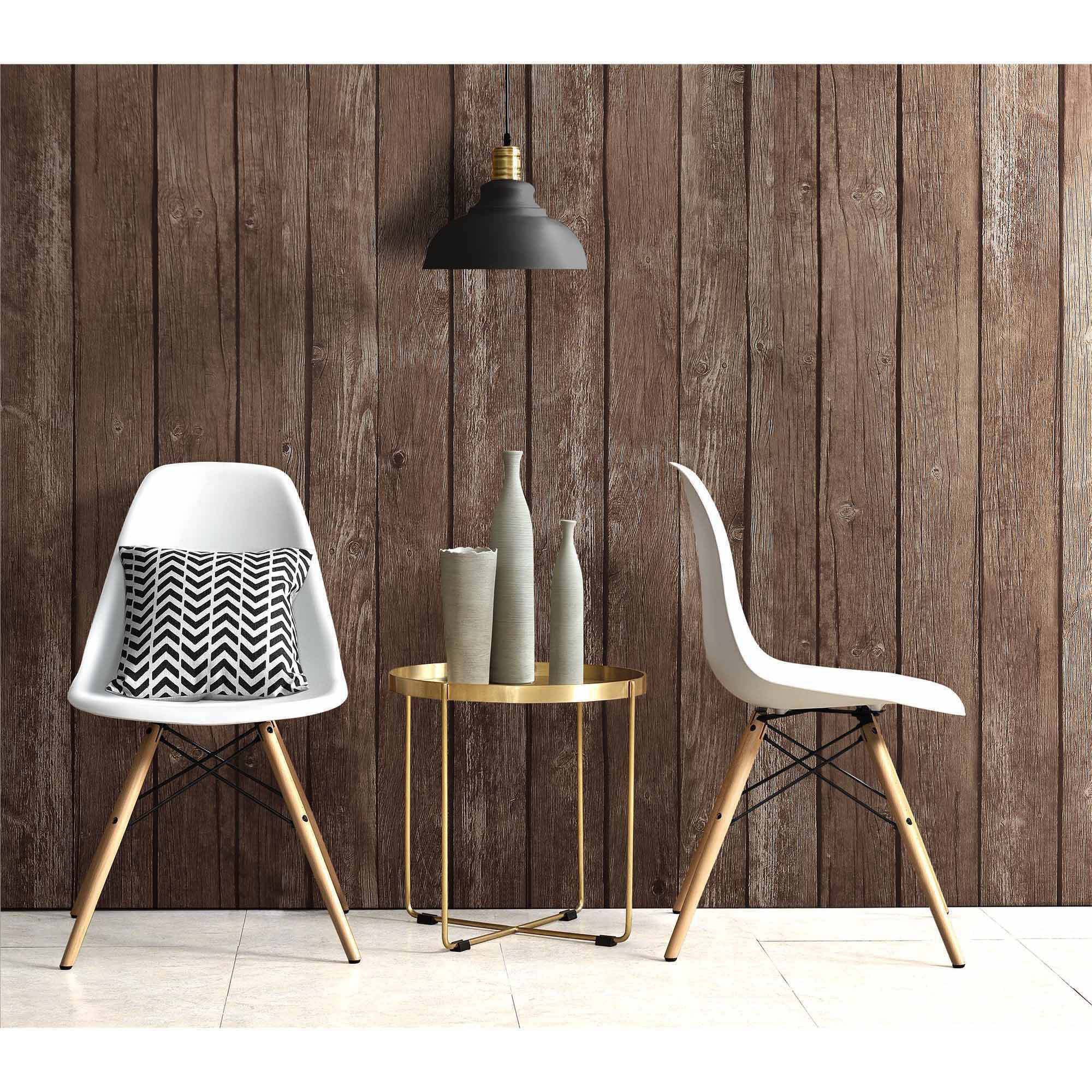 dhp mid century modern molded chair with wood leg set of 2 white