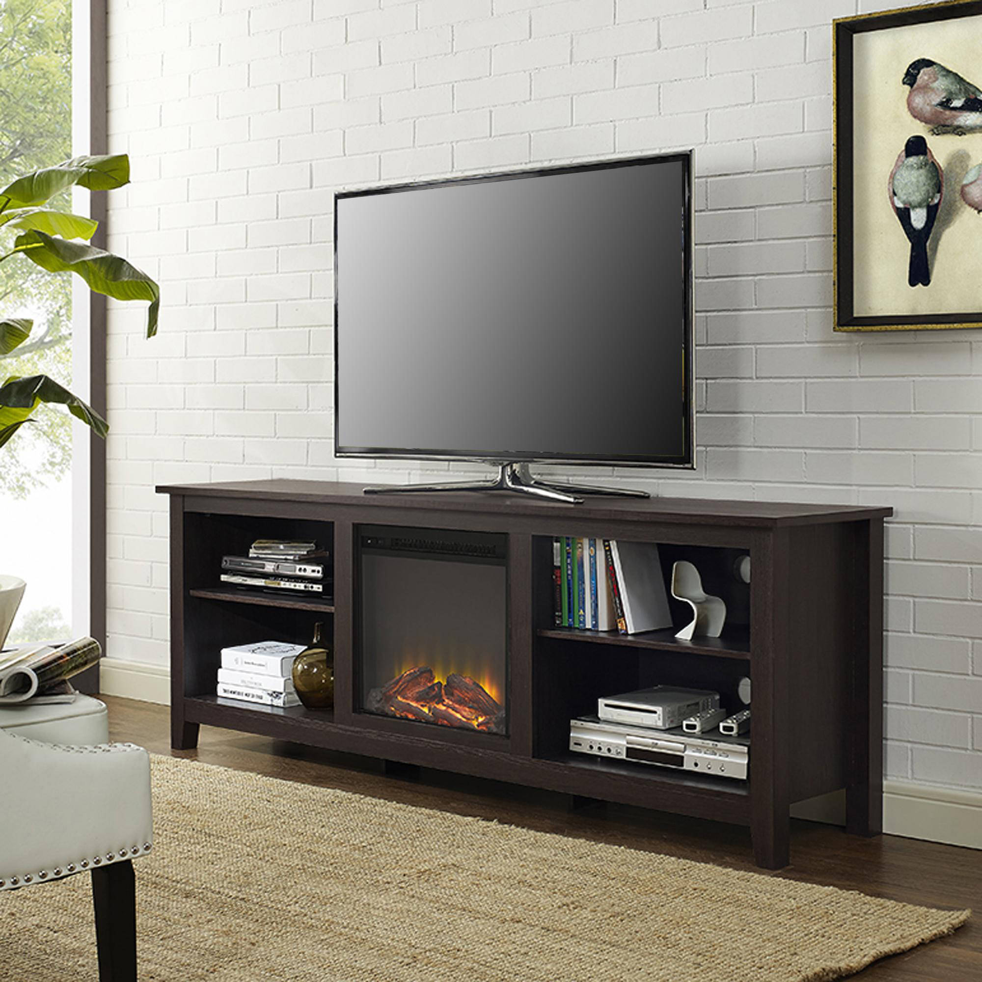 "Find great deals for We Furniture 70"" Wood Fireplace TV Stand Console Espresso Spy1000003190 UPC 814055021886. Shop with confidence on eBay!"