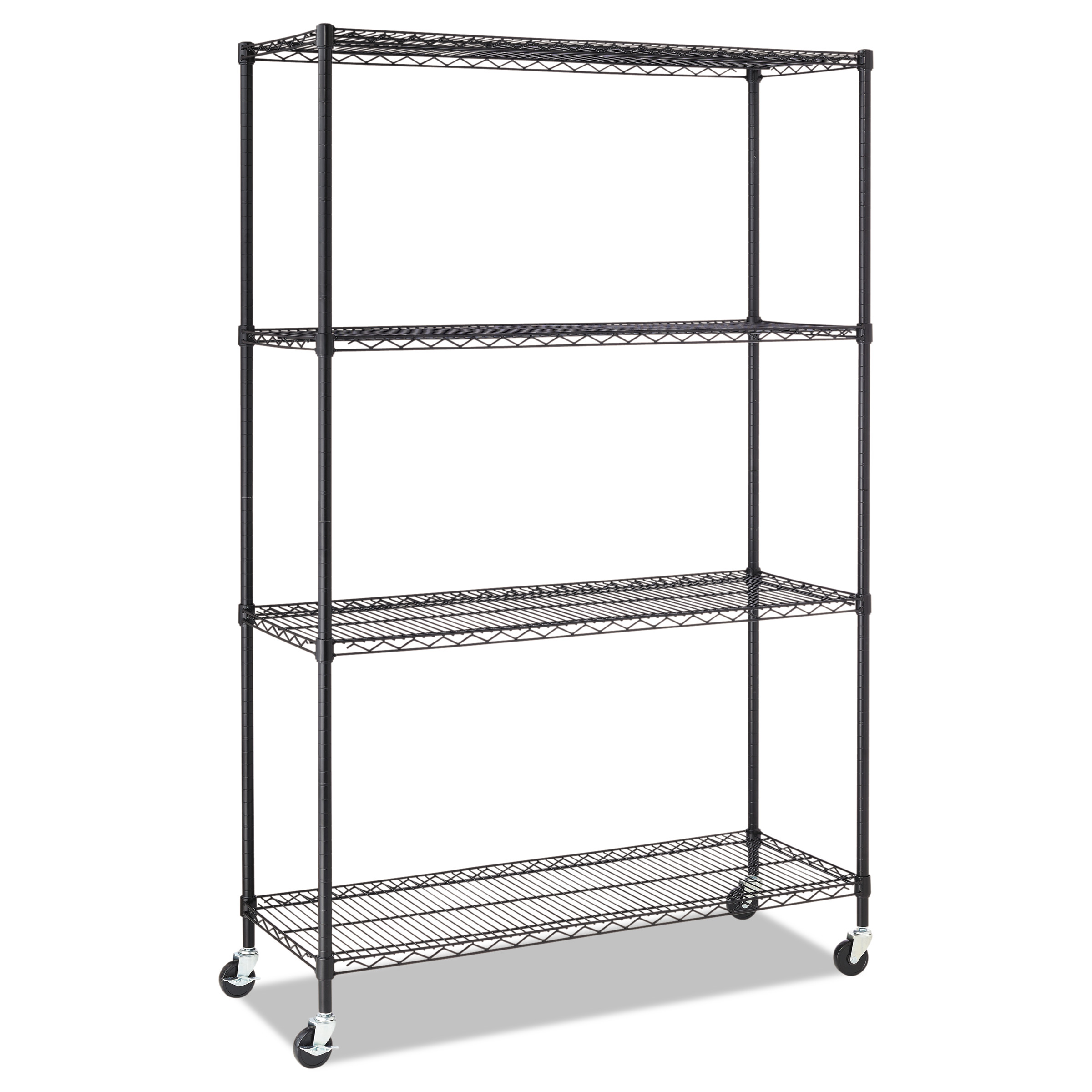 Alera Sw604818bl Complete Wire Shelving Unit Wcaster Four-shelf 48 X ...