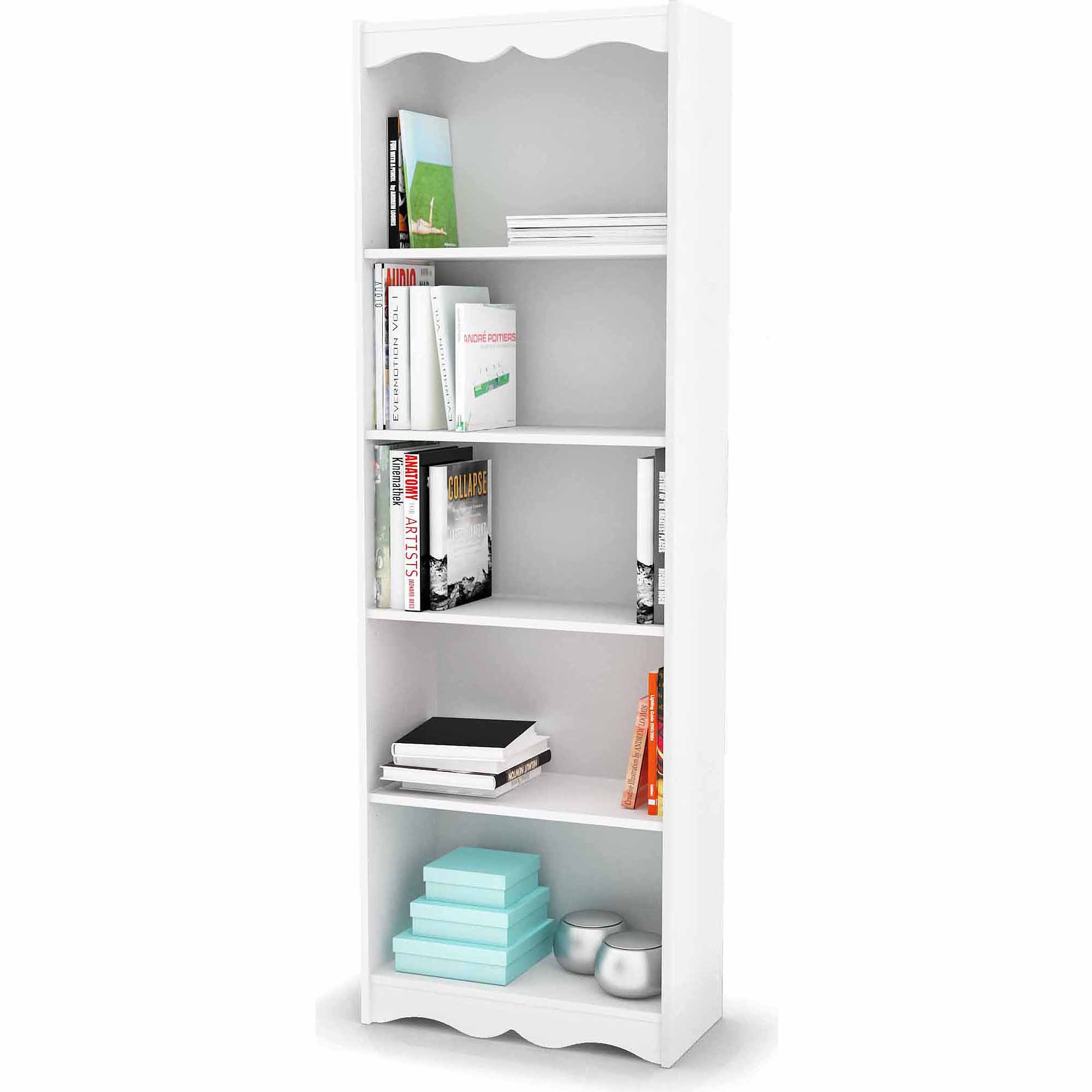 SONAX Hawthorn 72in Tall Bookcase Frost White Bookcases