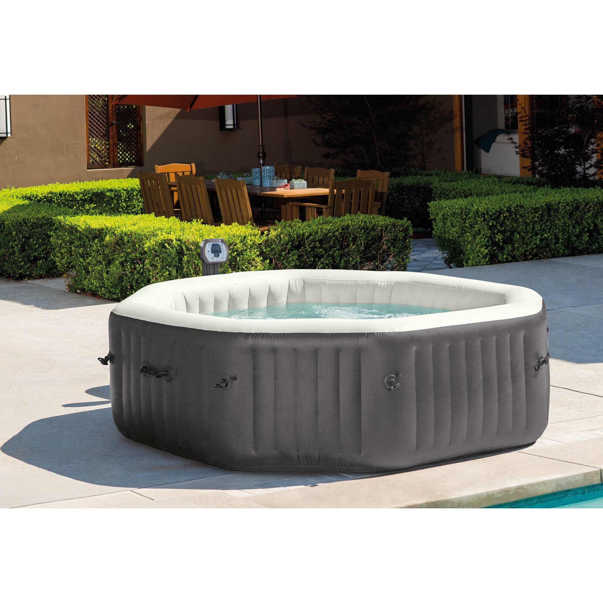 Intex 140 Bubble Jets 6 Person Octagonal Portable Inflatable Hot Tub