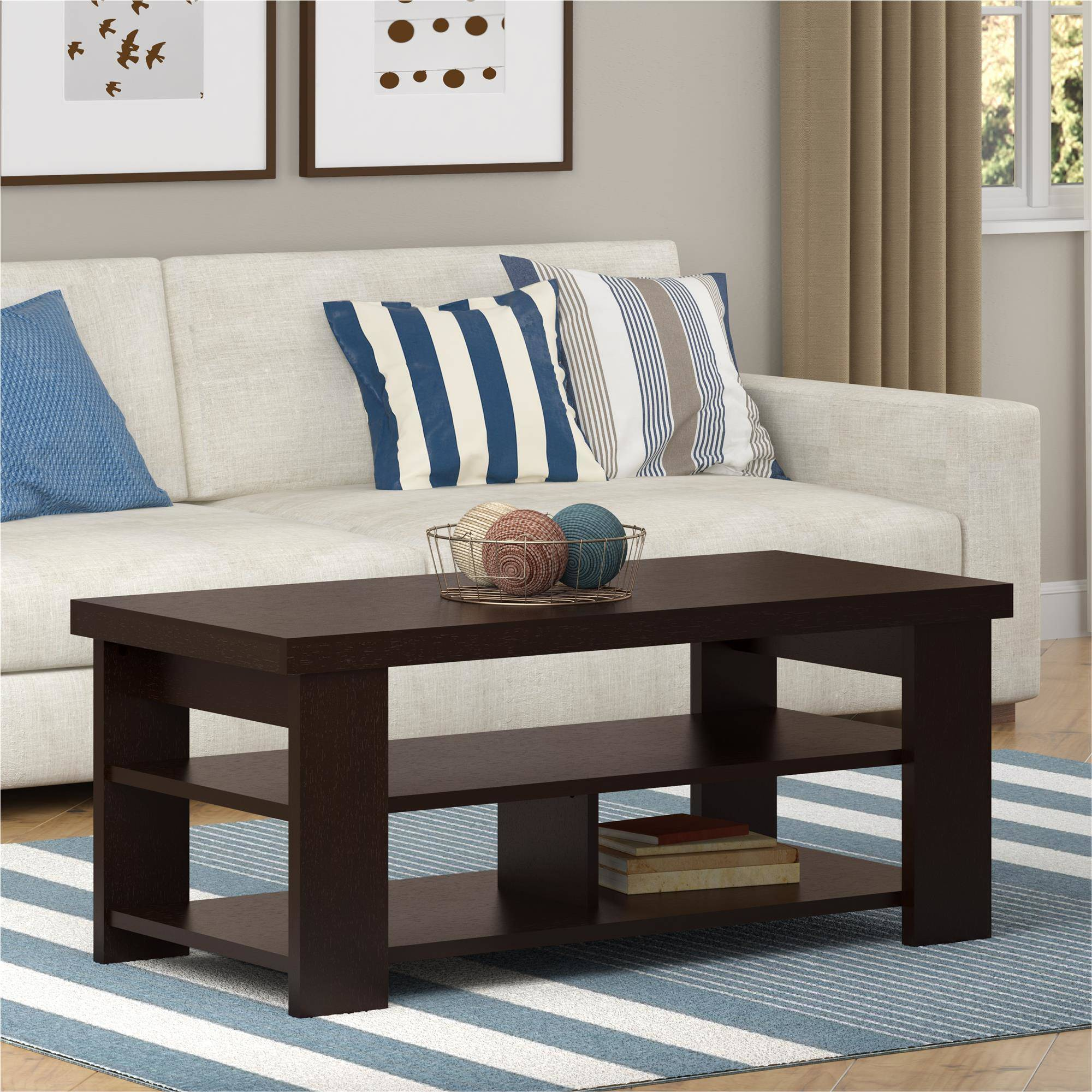 ... Picture 2 of 7 ... & Ameriwood Hollow Core Contemporary Coffee Table Medium Black Forest ...