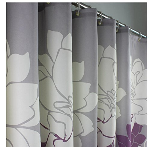 Eforgift 72inch By 78inch Floral Printed Shower Curtain Fabric,