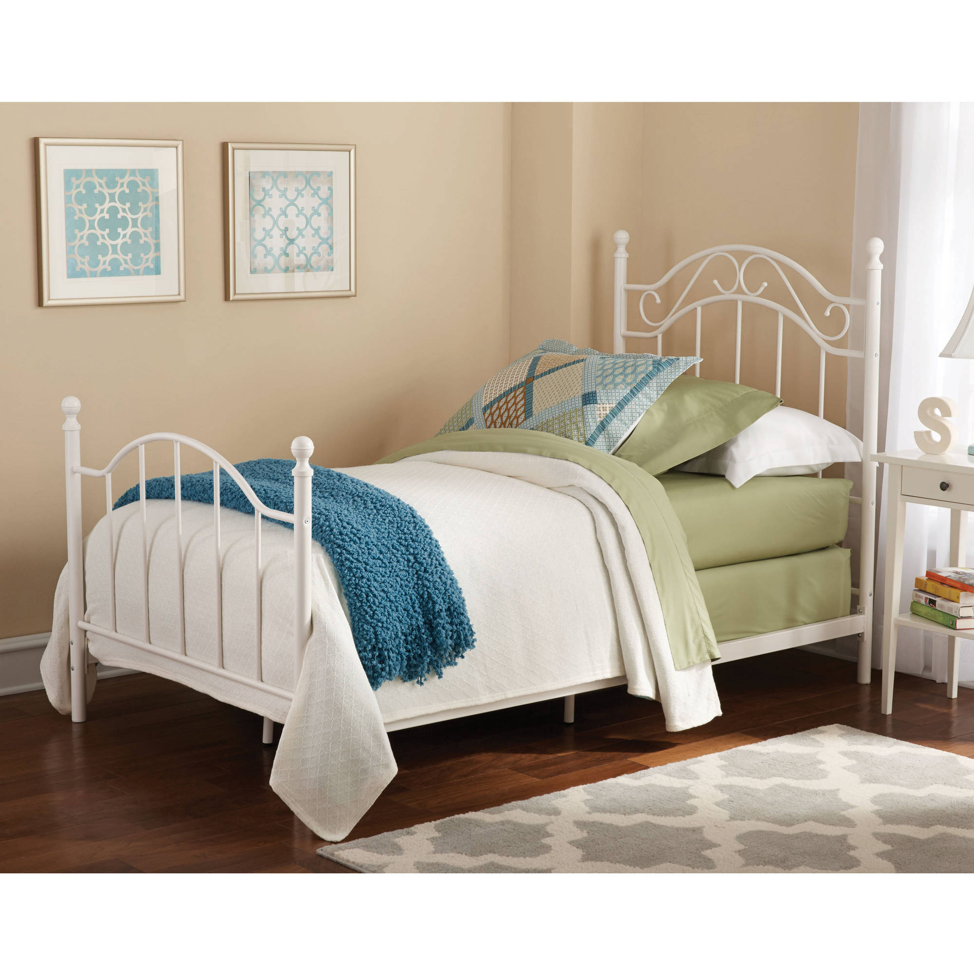 Exceptional Mainstays Twin Metal Bed, Multiple Colors