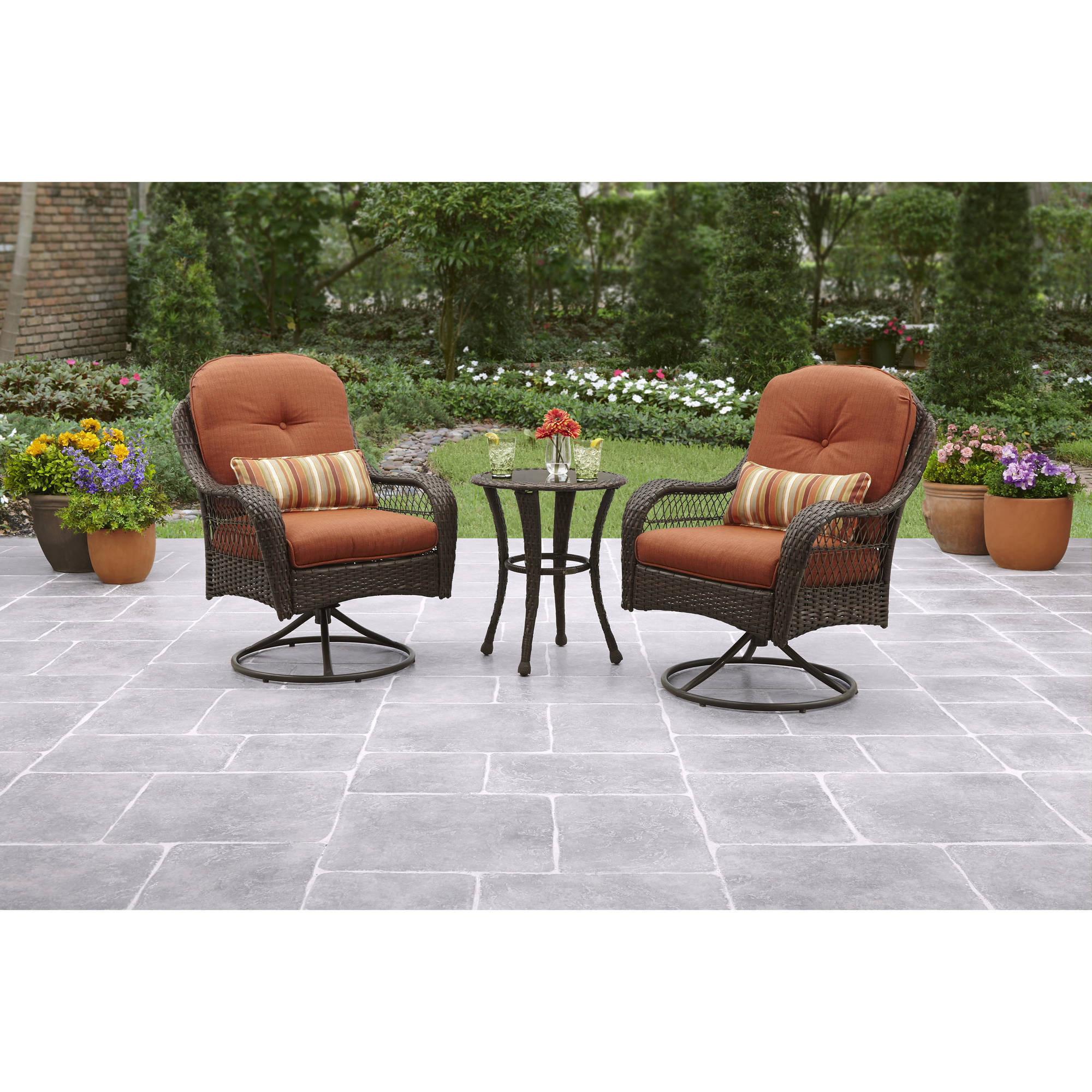 Details about better homes and gardens azalea ridge 3 piece outdoor bistro set seats 2