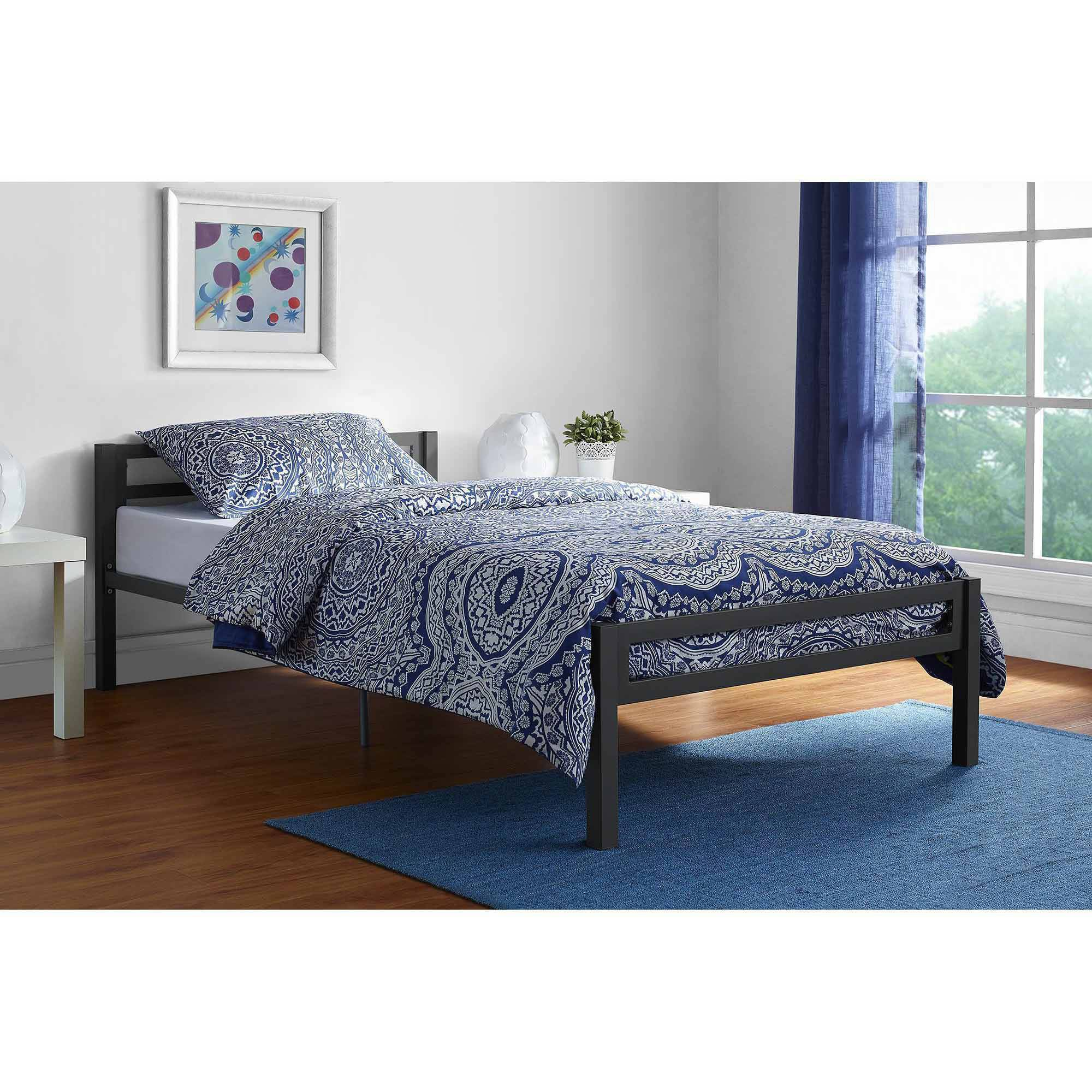 mainstays 4061019we bed twin size metal frame modern