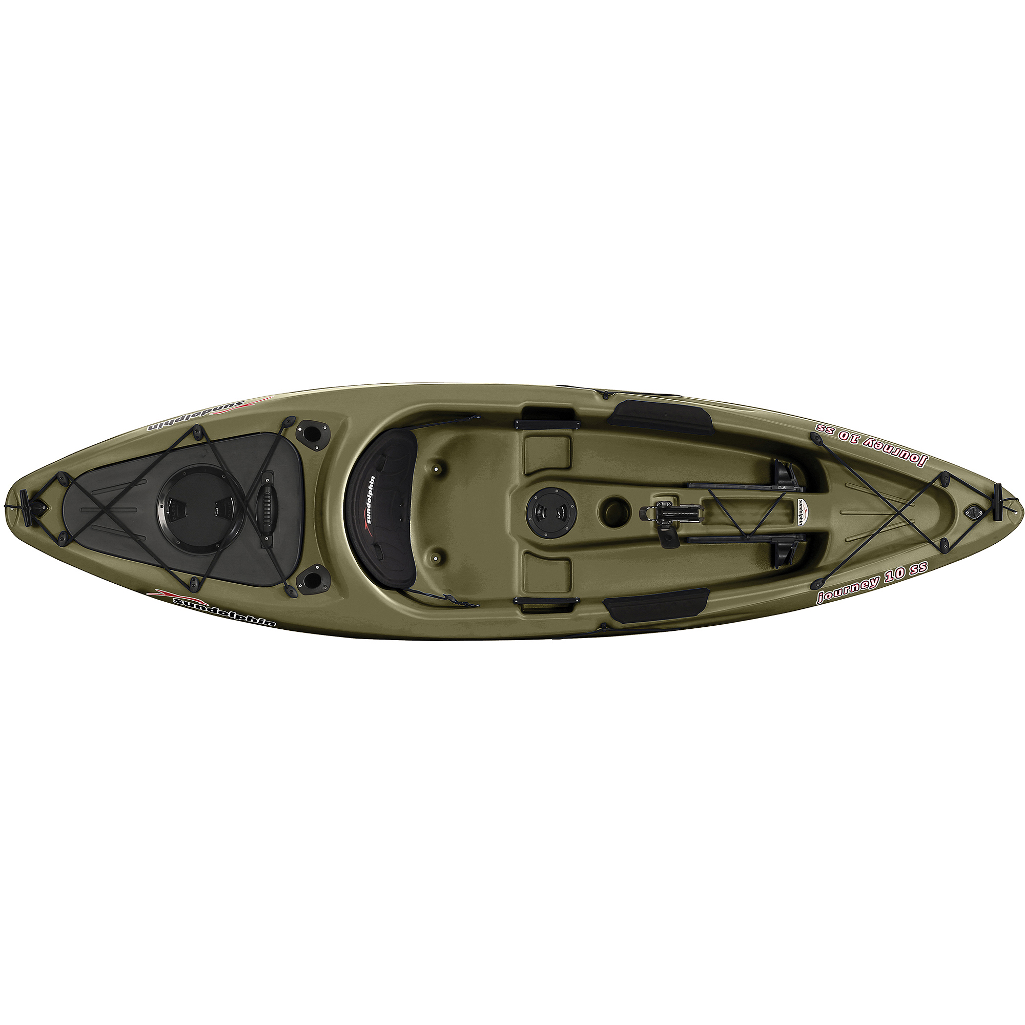 Kl industries sun dolphin journey sit on top fishing kayak for Fishing kayak walmart