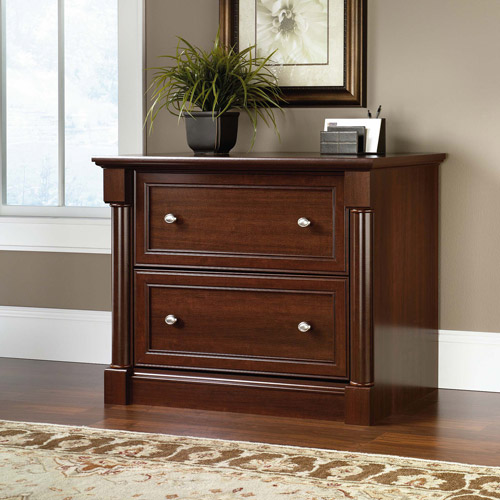Lateral File Cabinet Cherry Wood 2