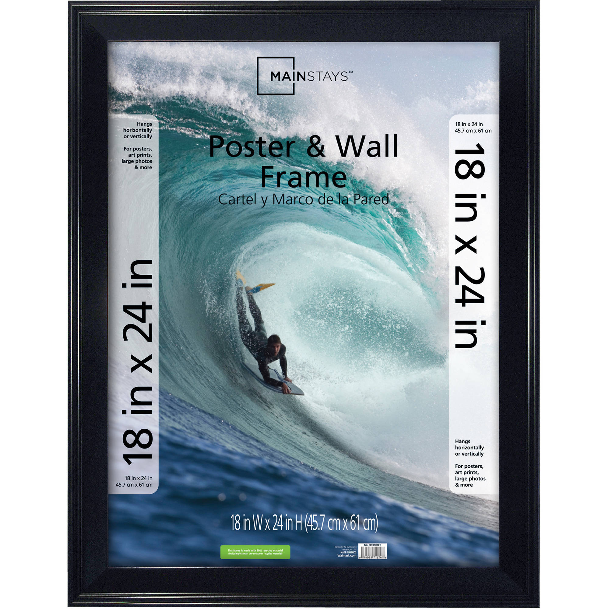 Mainstays 18x24 Casual Poster And Picture Frame Black 44021492451