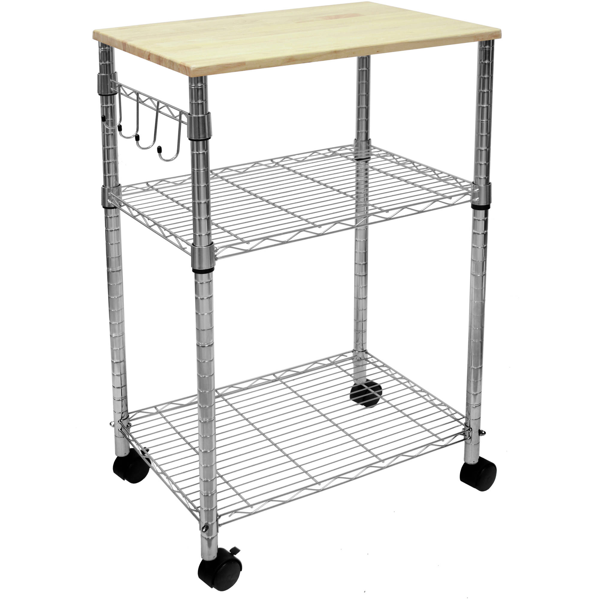Tier Portable Rolling Kitchen Island Cart Cutting Board Table Home - Kitchen island cart walmart