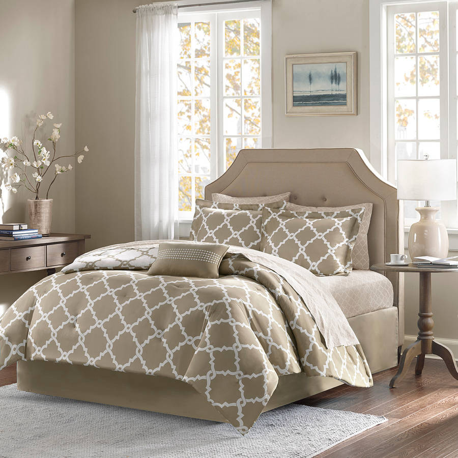 bed and sheet set 8 colors 5 sizes taupe california king about this product picture 1 of 5