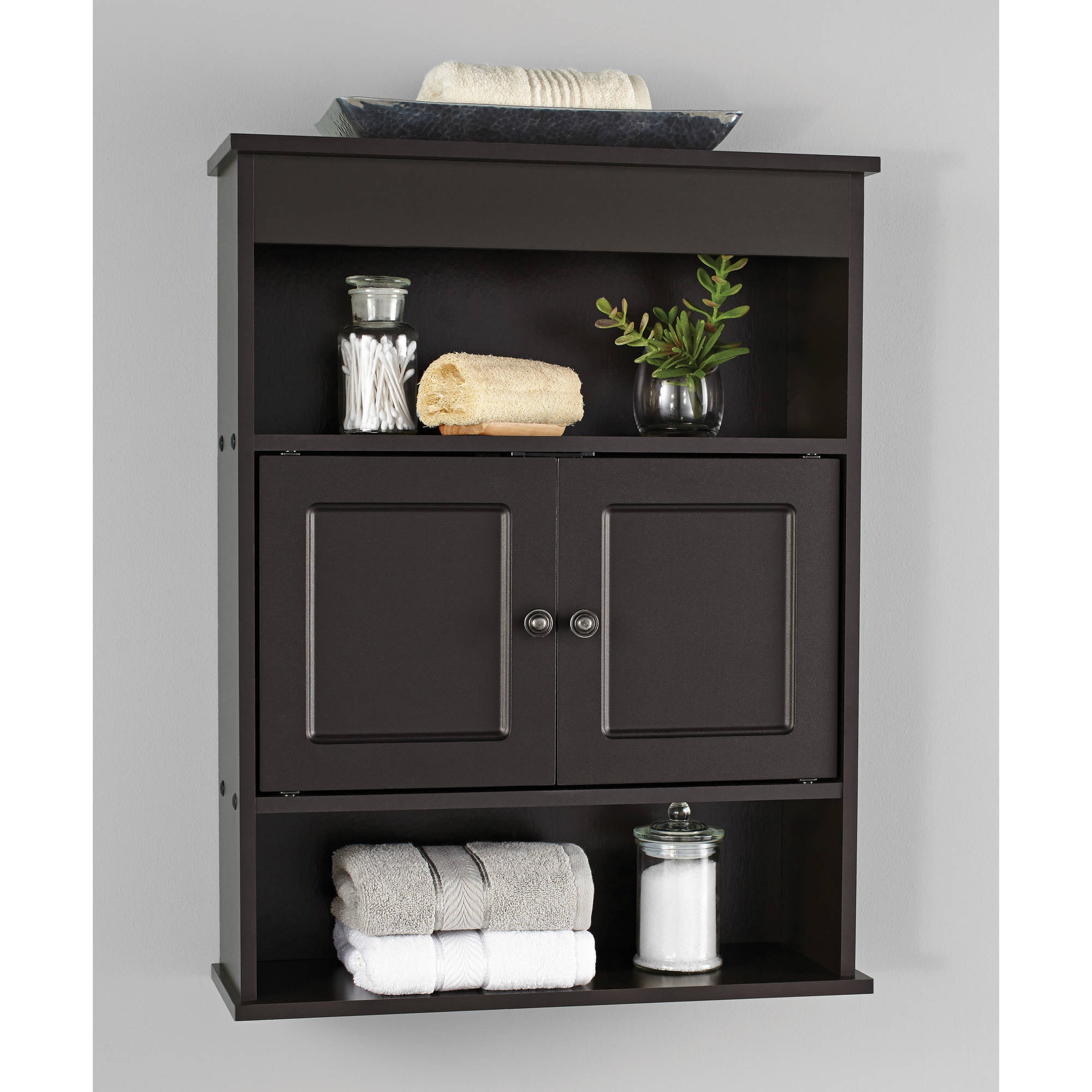 Chapter Bathroom Wall Medicine Cabinet Storage Shelf Espresso Vanity ...