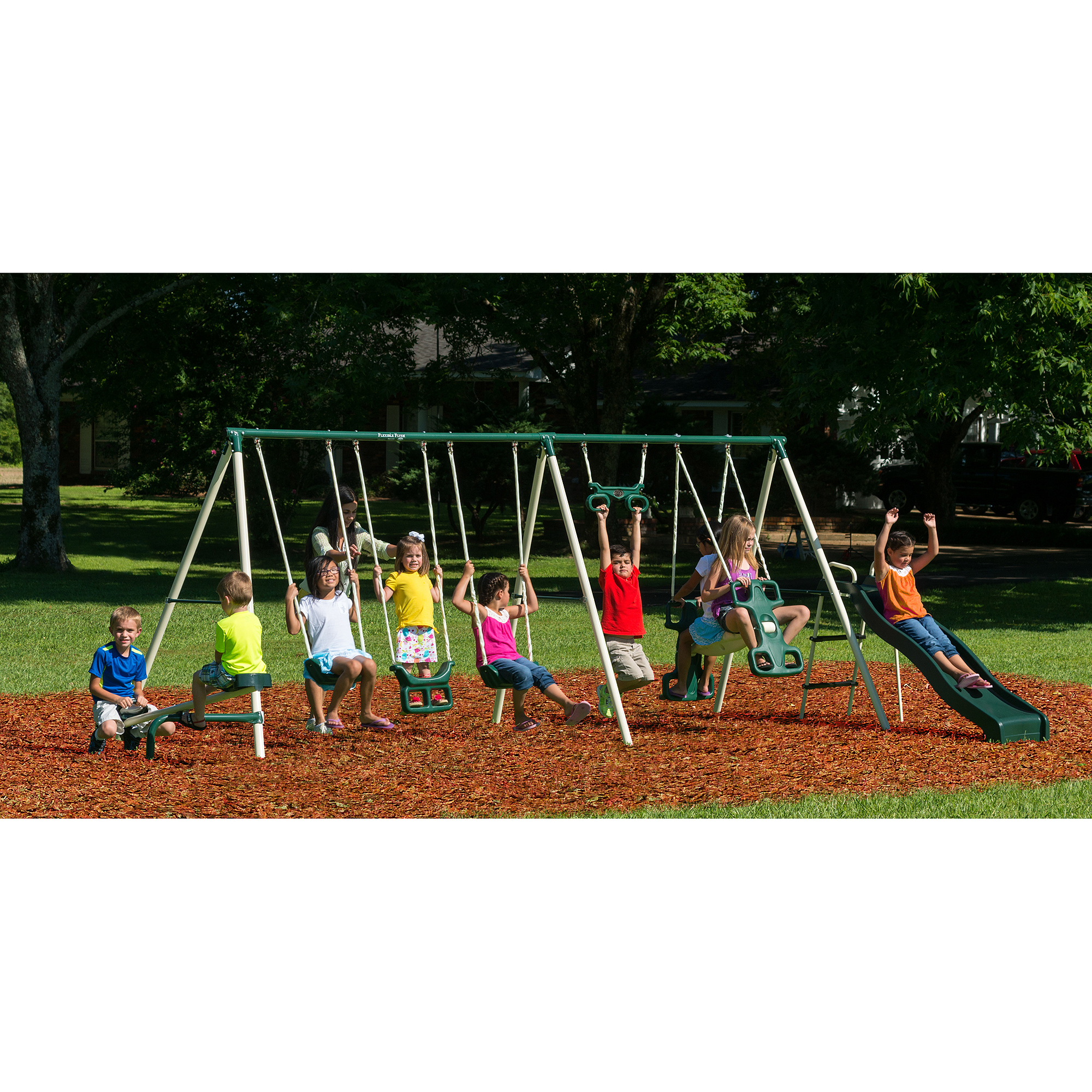Flexible Flyer Big Adventure Metal Swing Set
