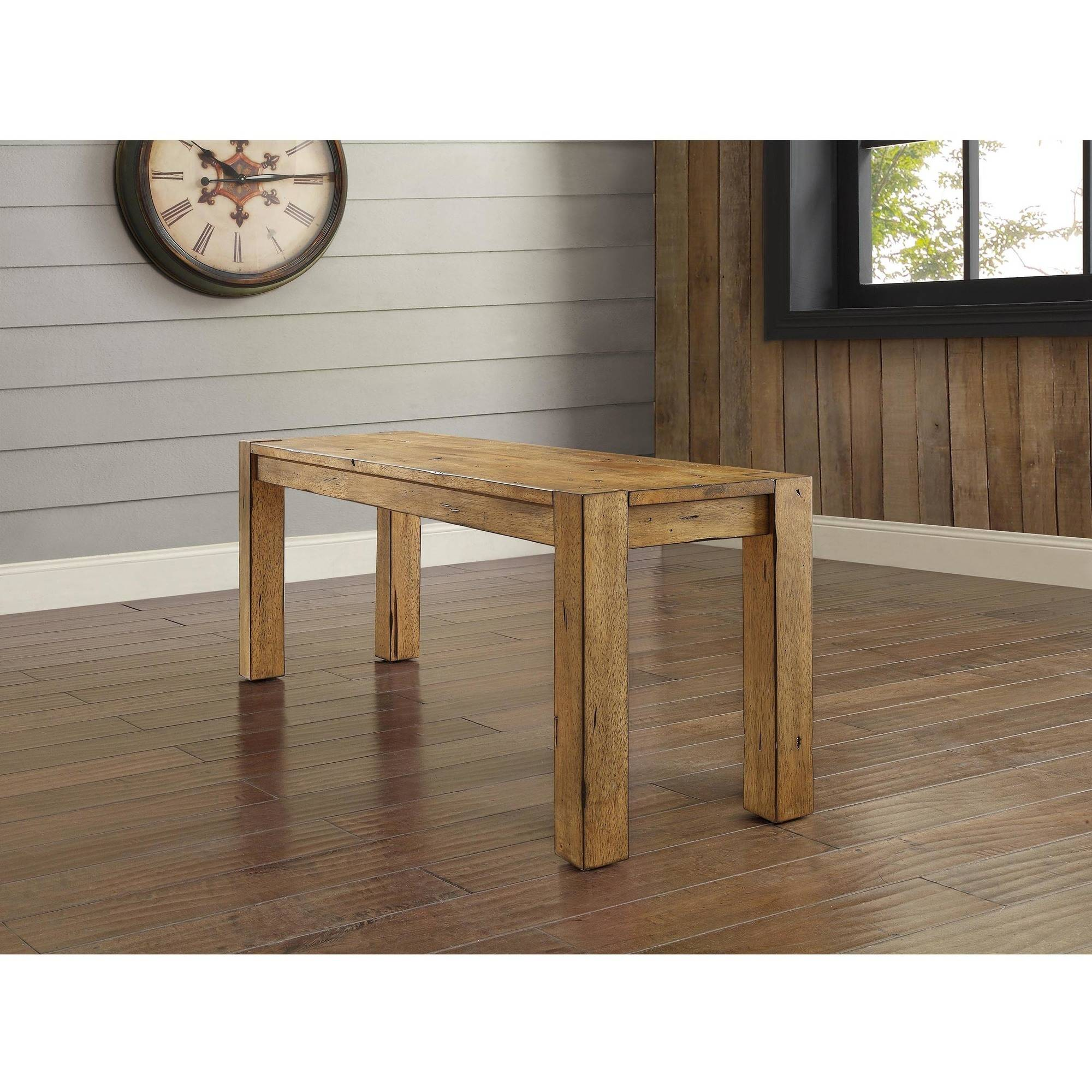 Better Homes and Gardens Bryant Dining Bench, Rustic Brown ...