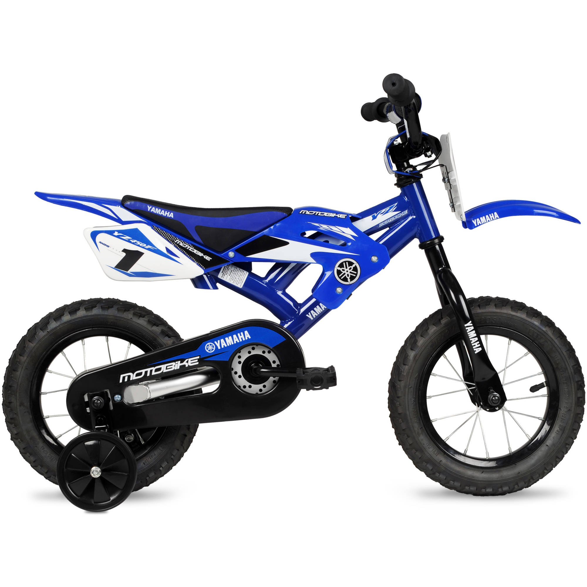 Bmx Bikes For Kids >> Details About Boys Kids Bike Yamaha Moto Childs Bmx 12 Blue 2 4 Wheels Children Bicycle Steel