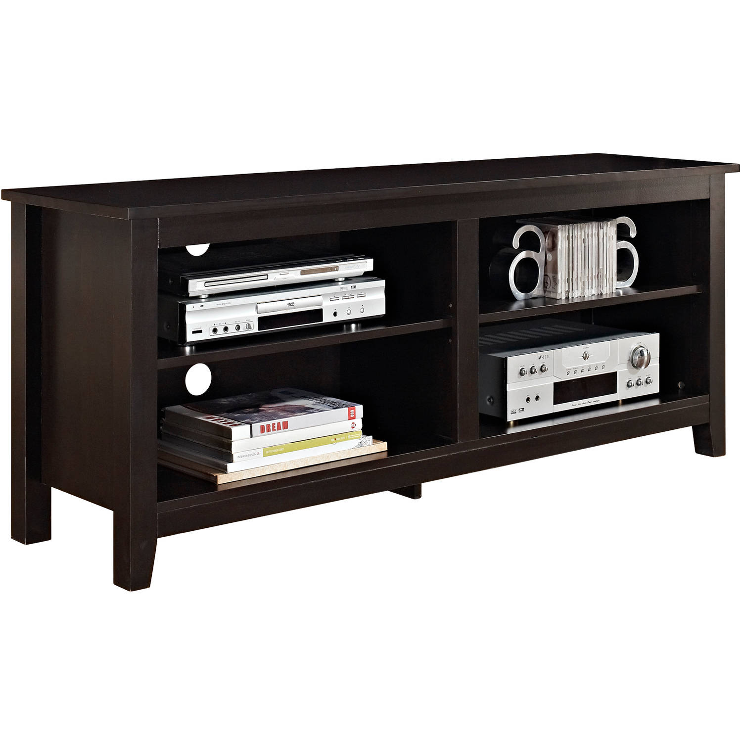 ... Picture 3 Of 3. Rustic Wood TV Stand Drift Entertainment Center Media  Storage ...