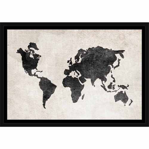 Distressed vintage travel old world map linen texture black white distressed vintage travel old world map linen texture black white gumiabroncs