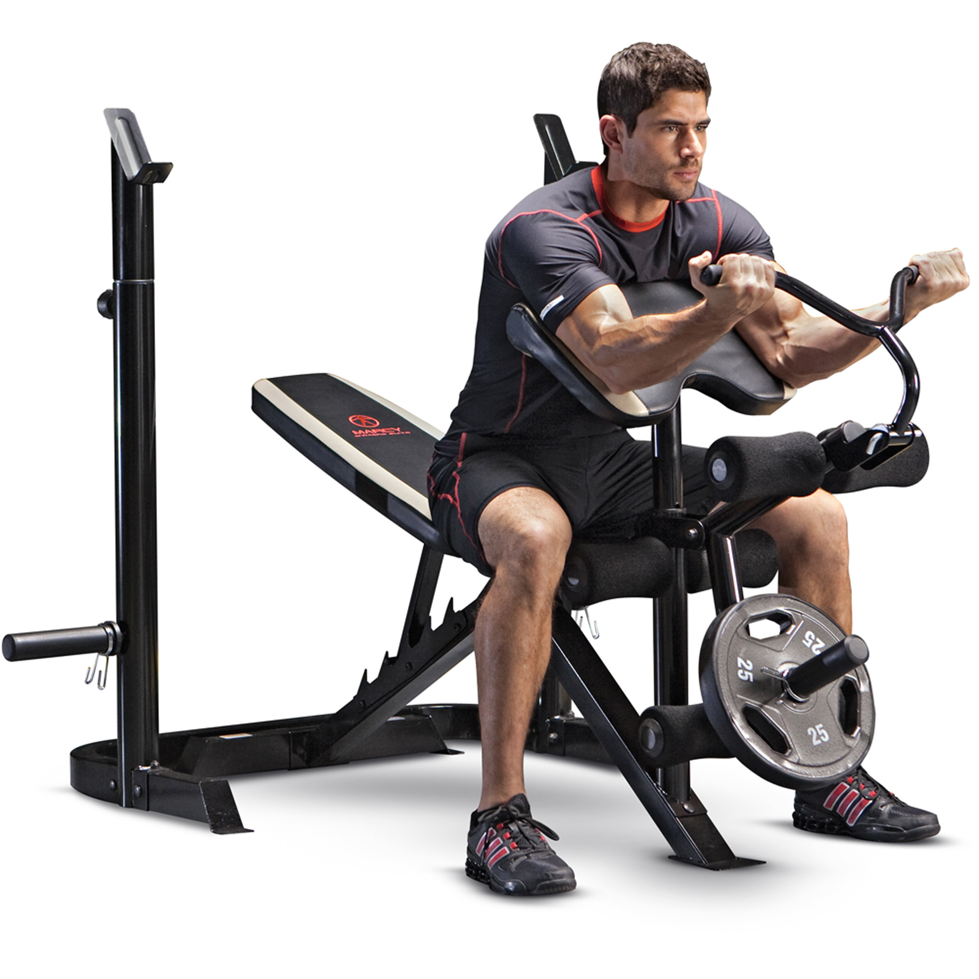 viavito iron olympic with bench and weight supplies weights benches exercise folding set cast york