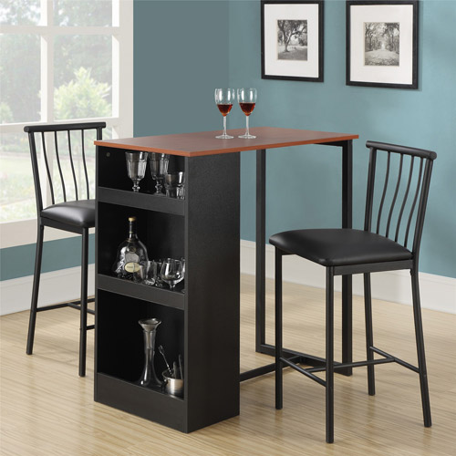 Exceptionnel Dorel Living Isla 3 Piece Counter Height Dining Set With Storage, Espresso