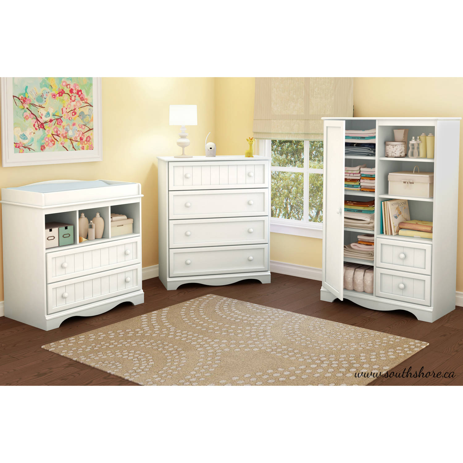 South Shore Country Pure White Changing Table 3580330. About This Product.  Picture 1 Of 5; Picture 2 Of 5 ...