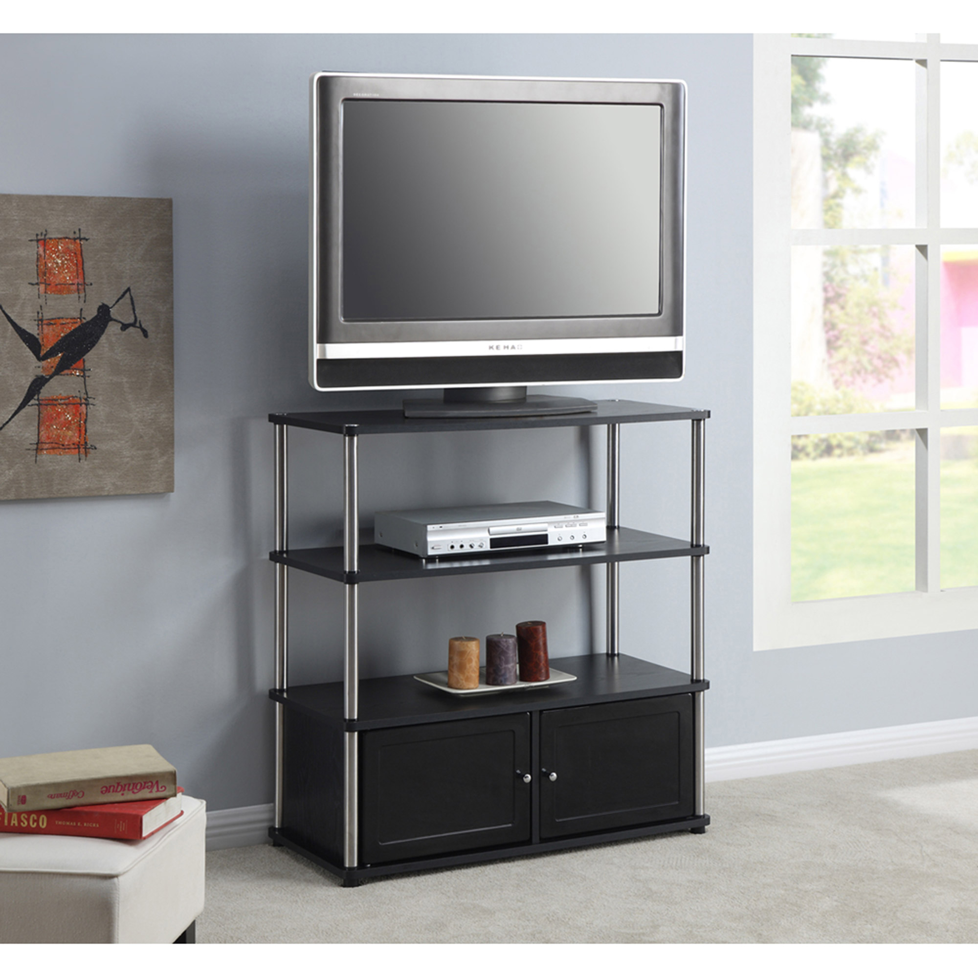 Image Is Loading Designs 2 Go High Boy Tv Stand In
