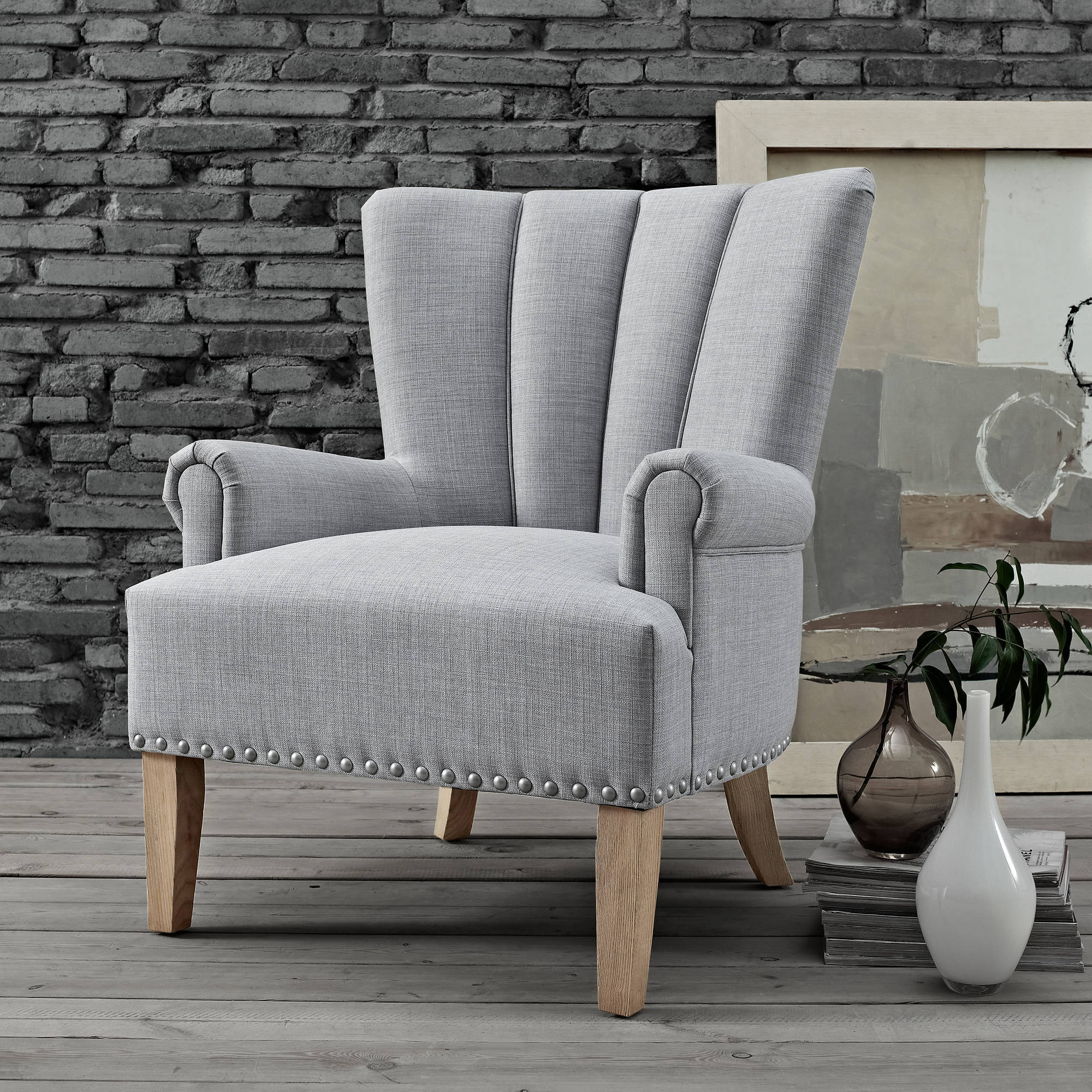 Etonnant Click Thumbnail To Enlarge. Roll Arm Accent Chair ...