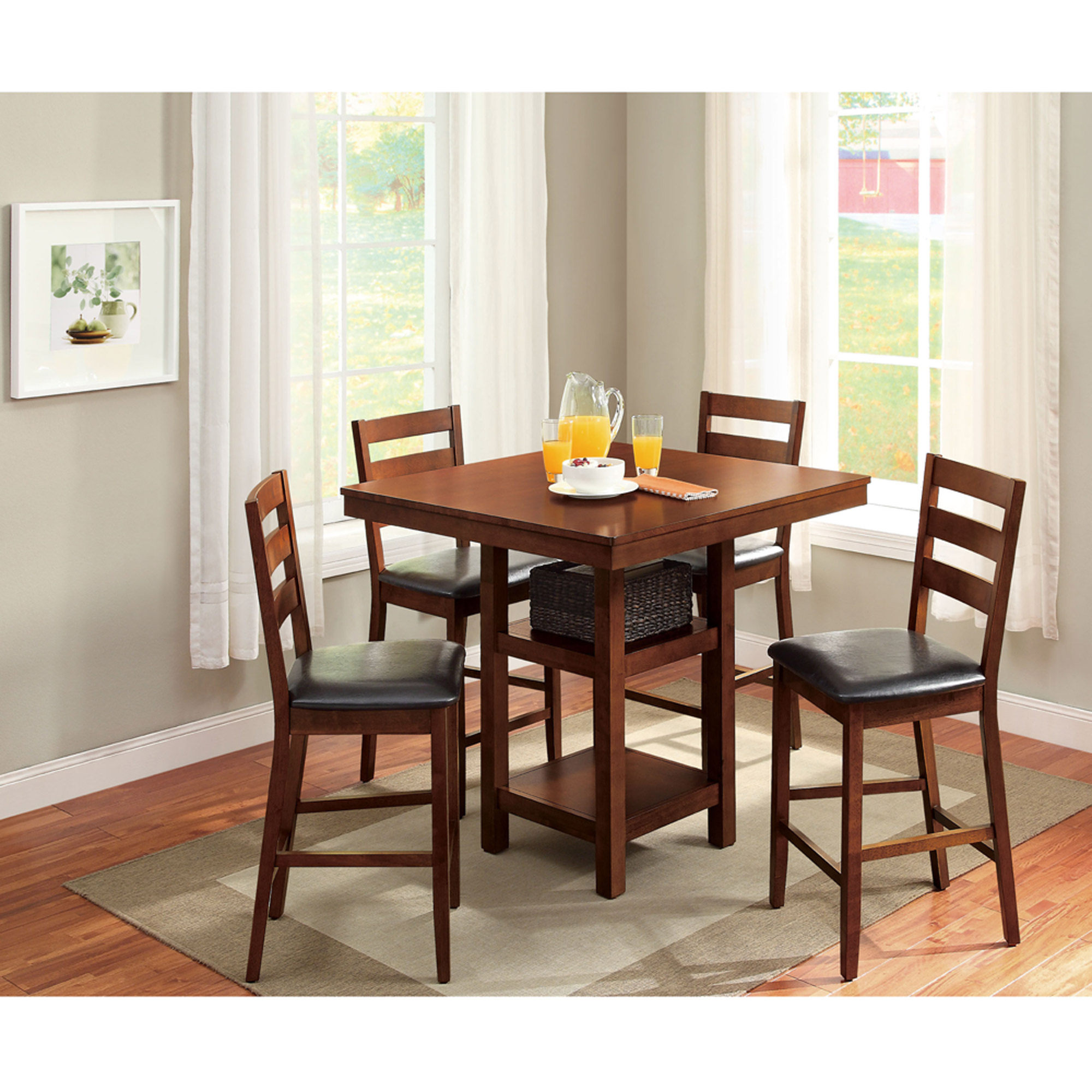 Good Details About Better Homes And Gardens Dalton Park 5 Piece Counter Height Dining  Set, Mocha