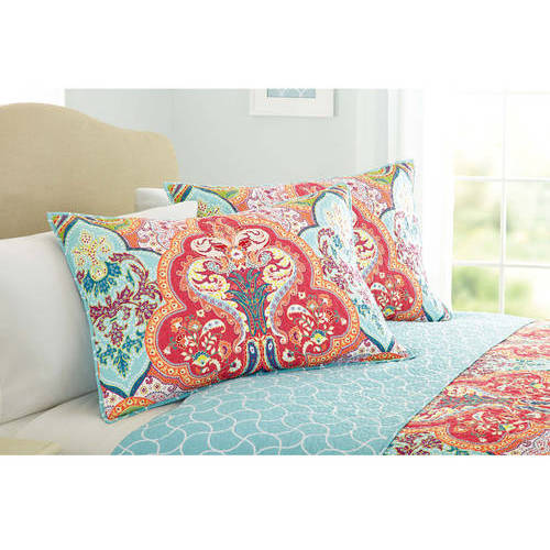 Better homes and gardens quilt collection jeweled damask - Better homes and gardens pillows ...