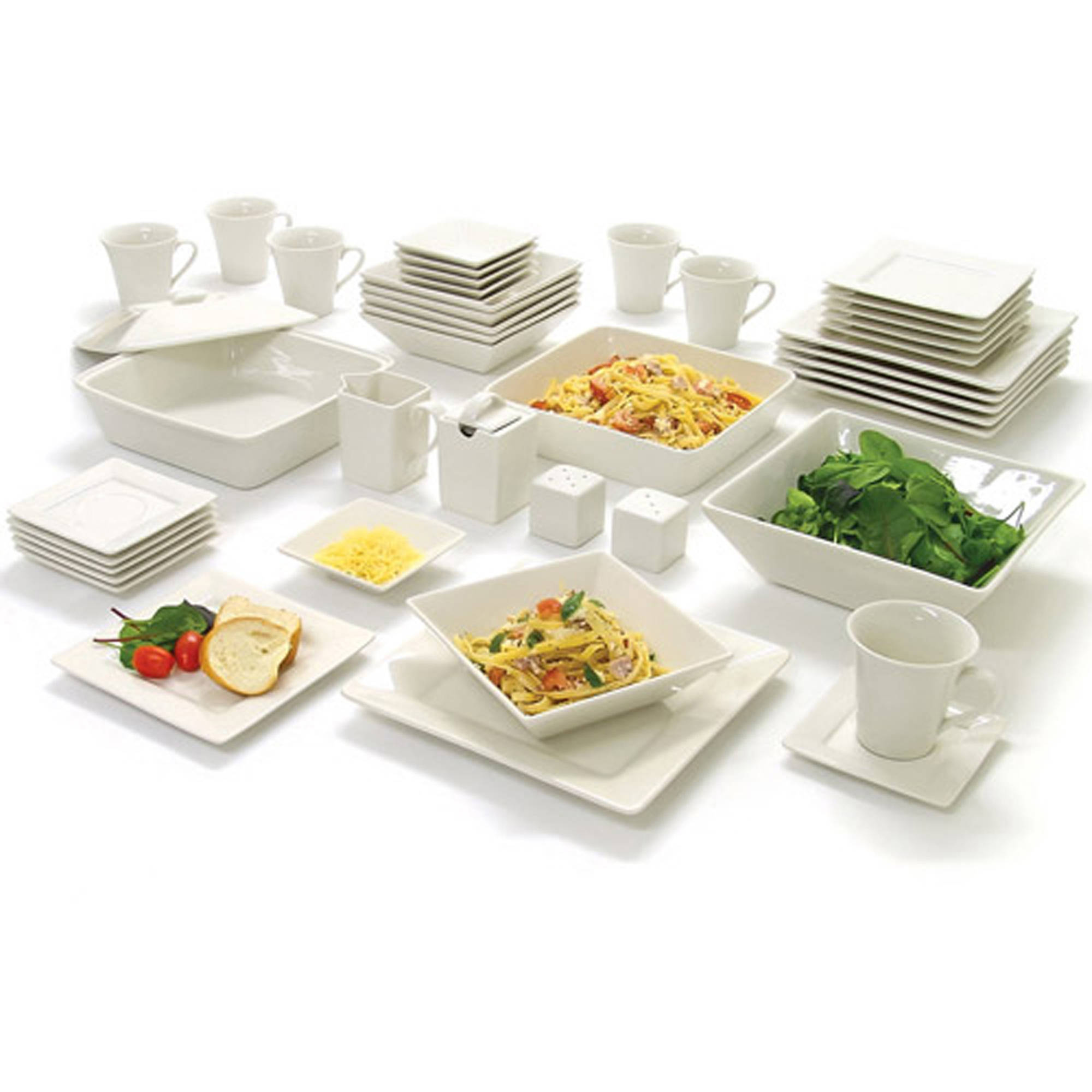 10 Strawberry Street Nova Square Banquet 45-Piece Dinnerware Set  sc 1 st  eBay & 10 Strawberry Street Nova Square Banquet 45-Piece Dinnerware Set ...