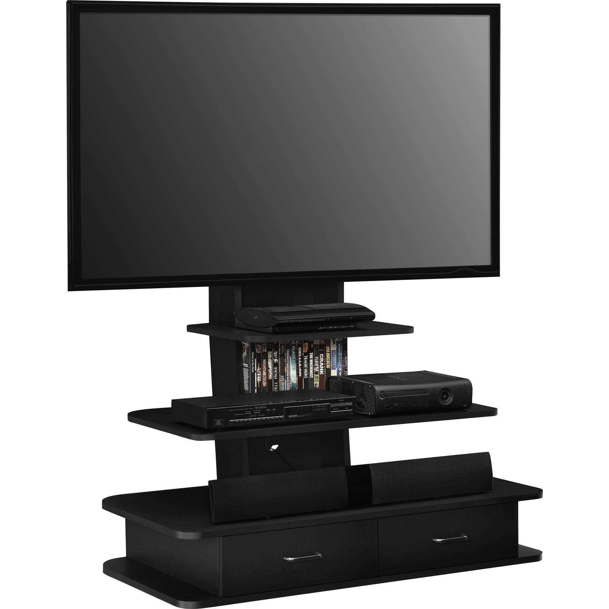 Altra Furniture Galaxy Tv Stand With Mount And Drawers 70 Black Ebay