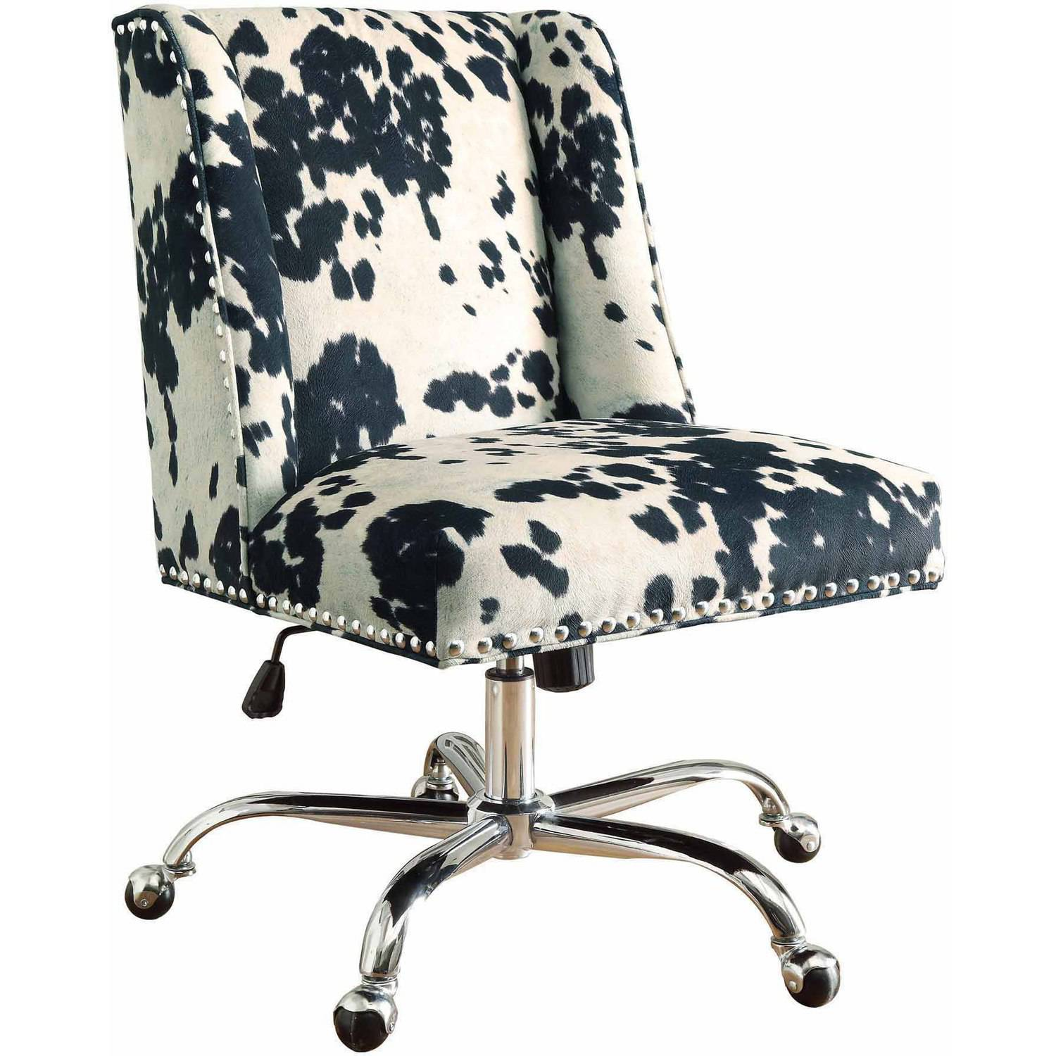 linon draper armless upholstered office chair in aqua ebay 87869