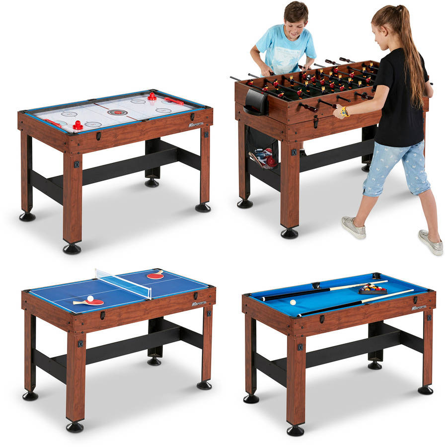 Genial 54 Inch 4 In 1 Combo Table Pool Foosball Table Tennis Billiards Air Hockey  NEW