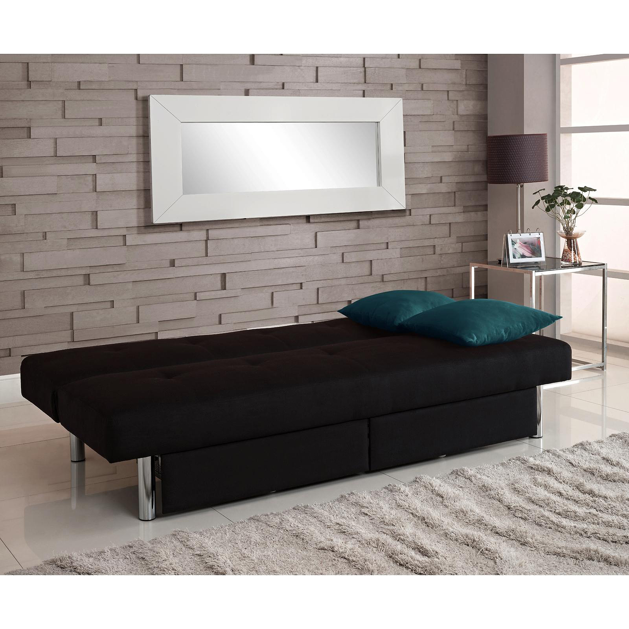 Details about Microfiber Fold Down Futon Sofa Bed Couch Sleeper Furniture  Lounge Convertible